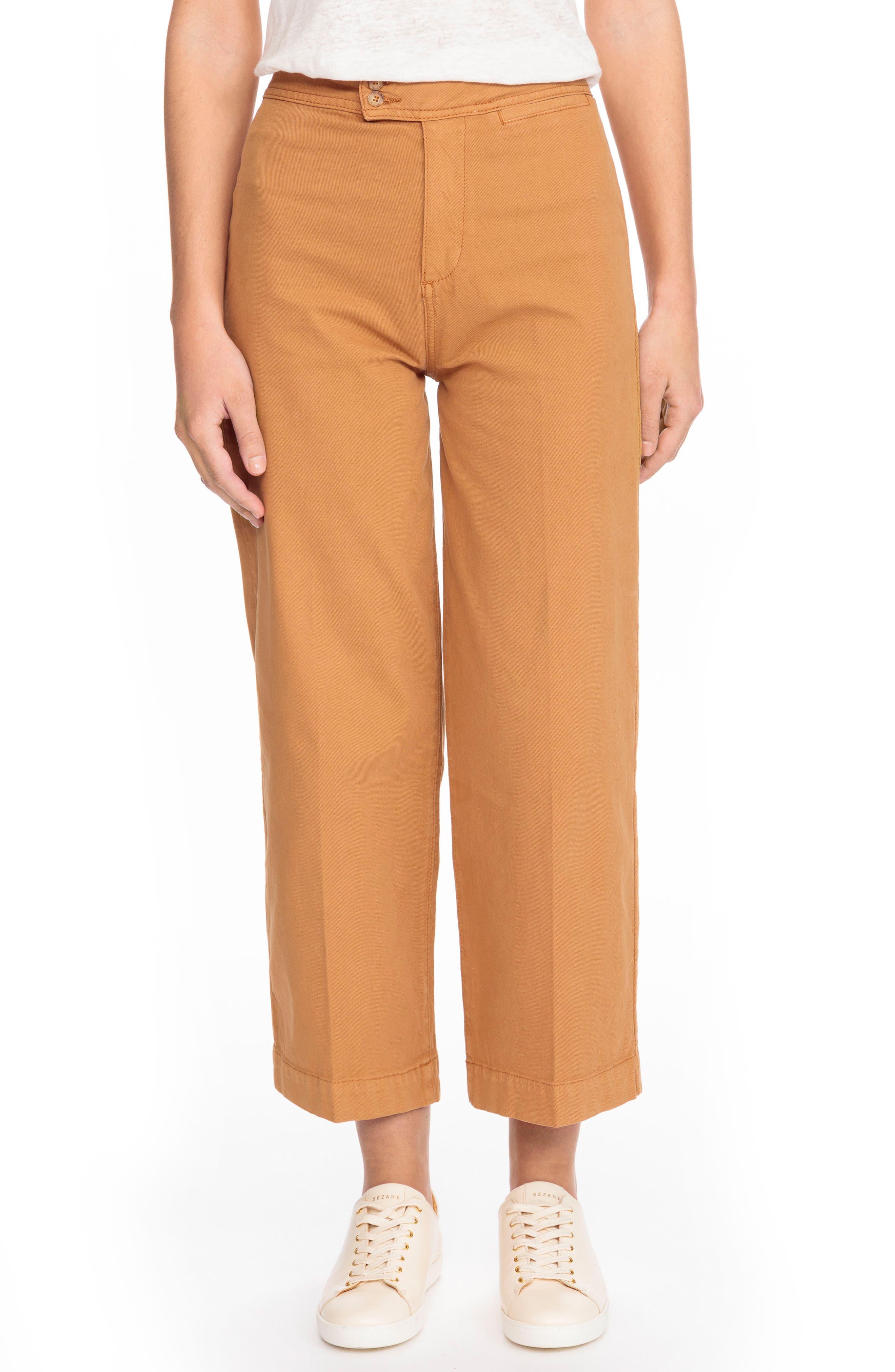June Crop Pants,                         Main,                         color, Ocre