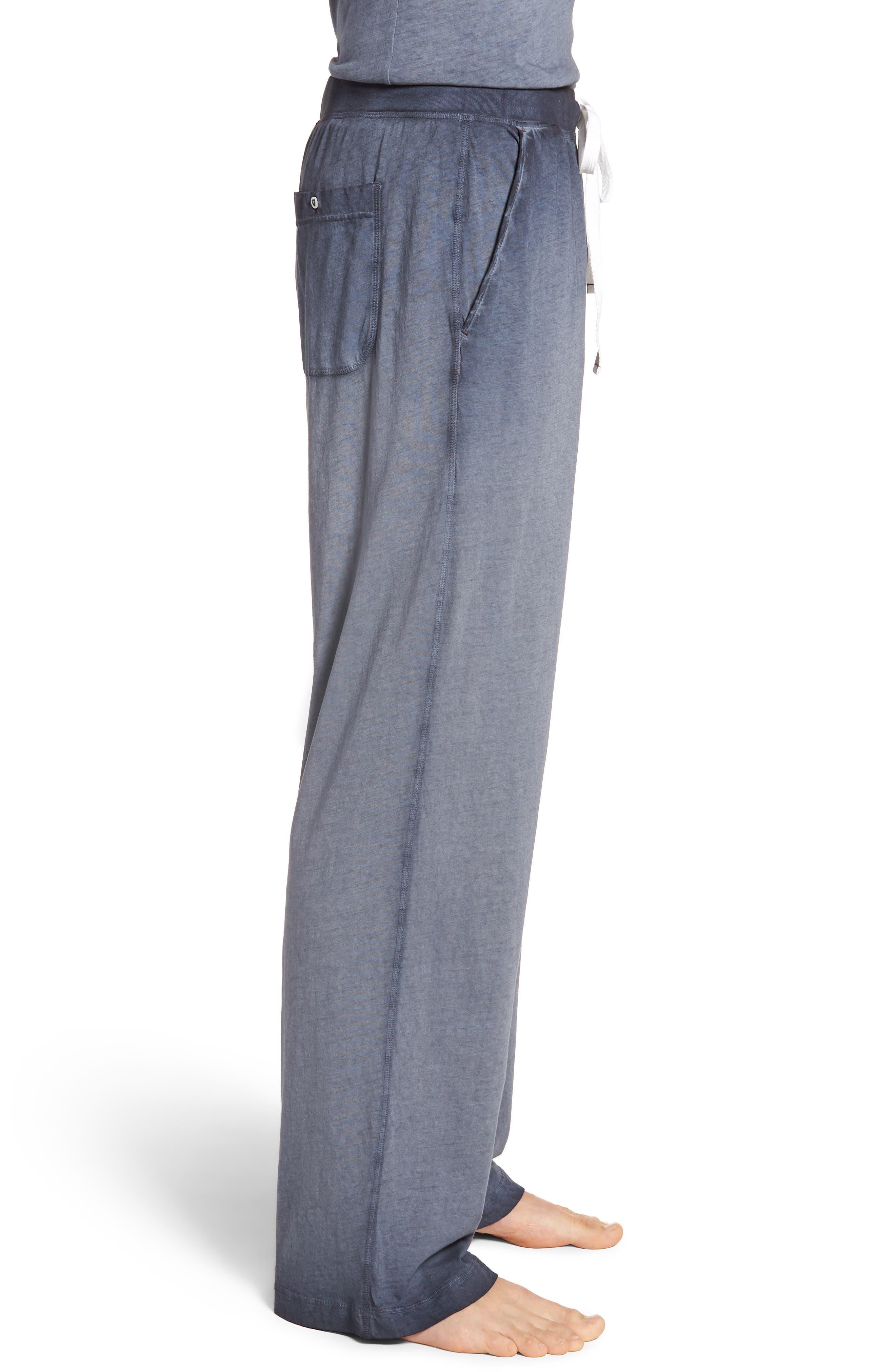 Cotton Lounge Pants,                             Alternate thumbnail 3, color,                             Navy