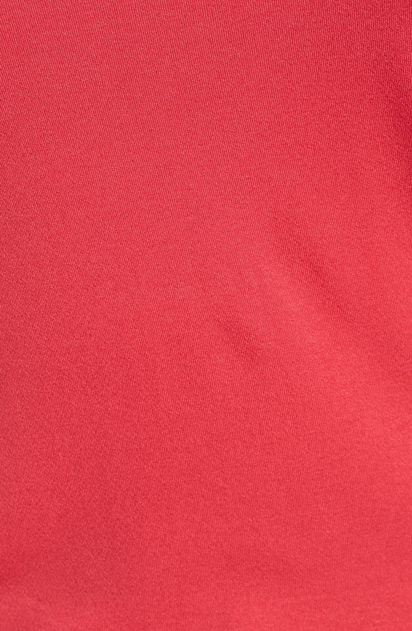 Faux Wrap Knit Top,                             Alternate thumbnail 6, color,                             Deep Coral