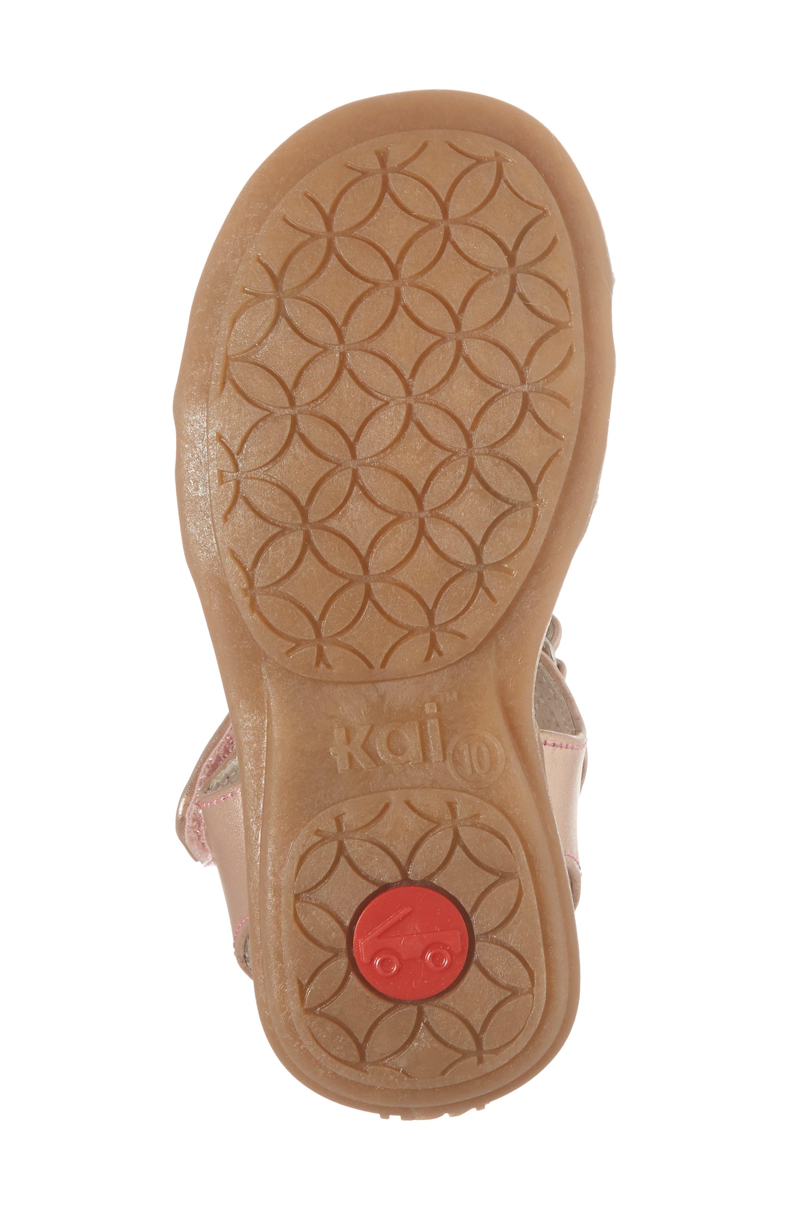 Hadley Metallic Sandal,                             Alternate thumbnail 6, color,                             Rose Gold