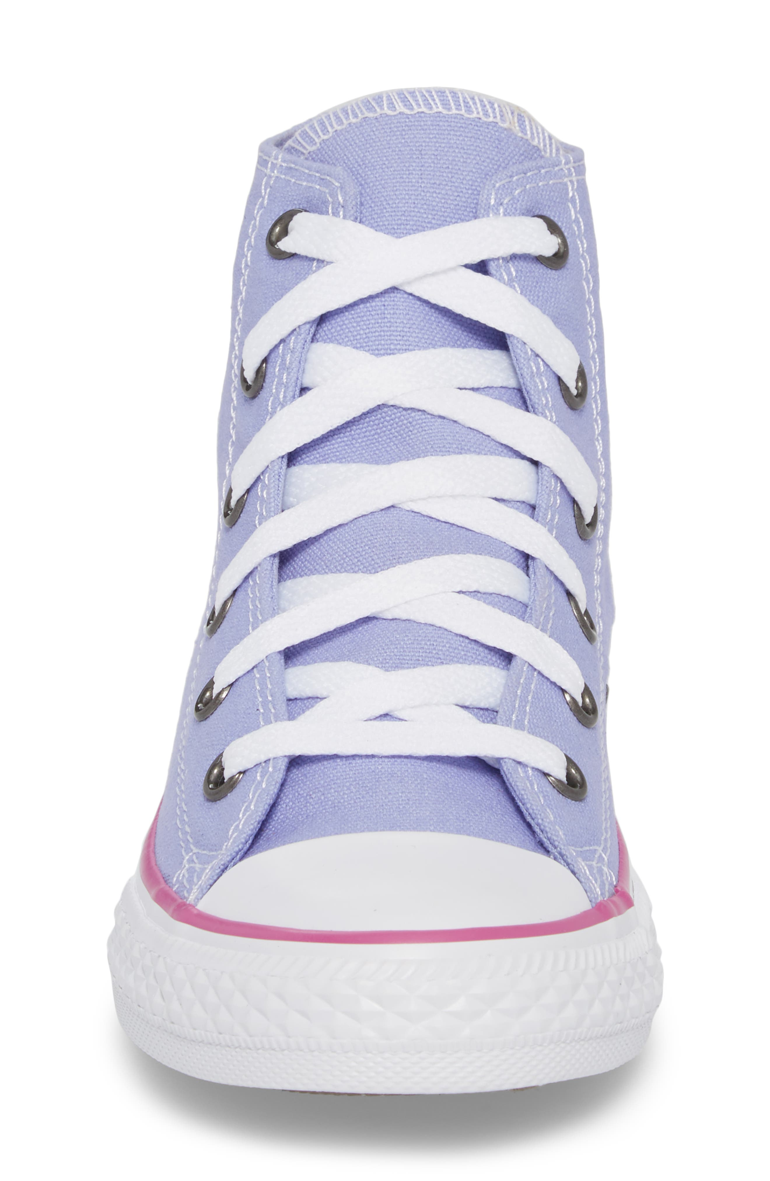Chuck Taylor<sup>®</sup> All Star<sup>®</sup> High Top Sneaker,                             Alternate thumbnail 4, color,                             Twilight Purple