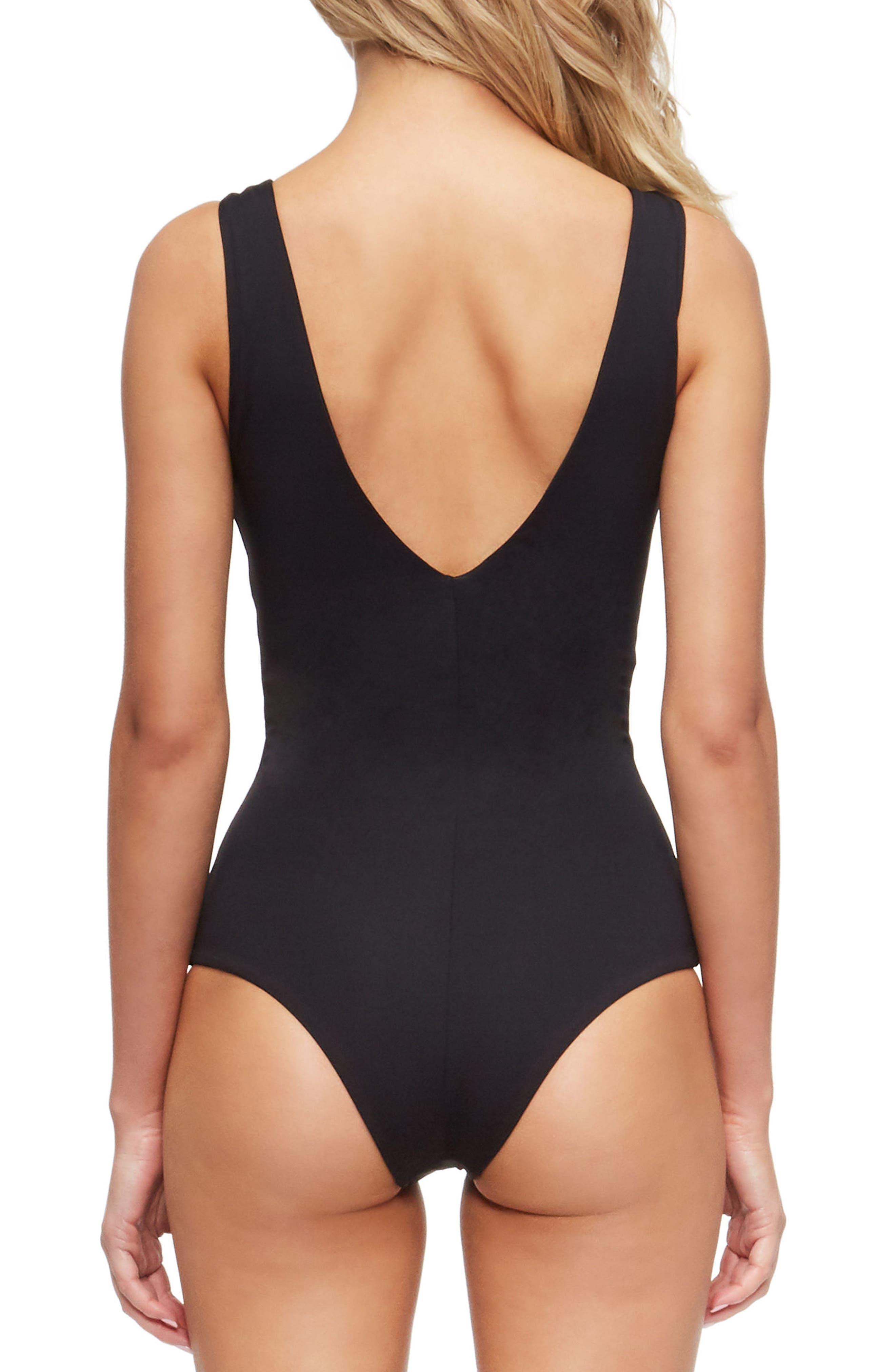 Roan One-Piece Swimsuit,                             Alternate thumbnail 2, color,                             Black