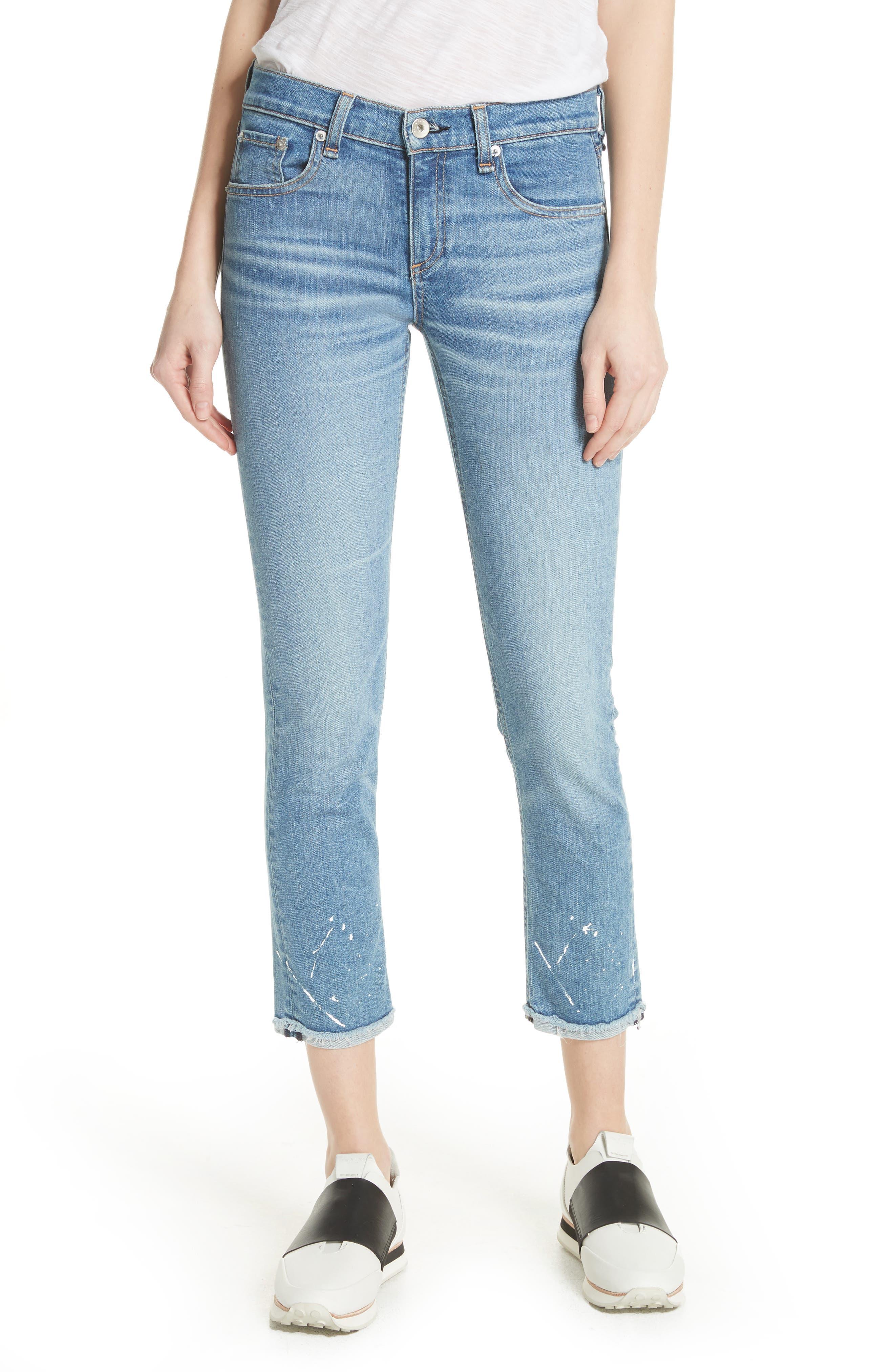 The Dre Ankle Slim Boyfriend Jeans,                         Main,                         color, Bulwarks