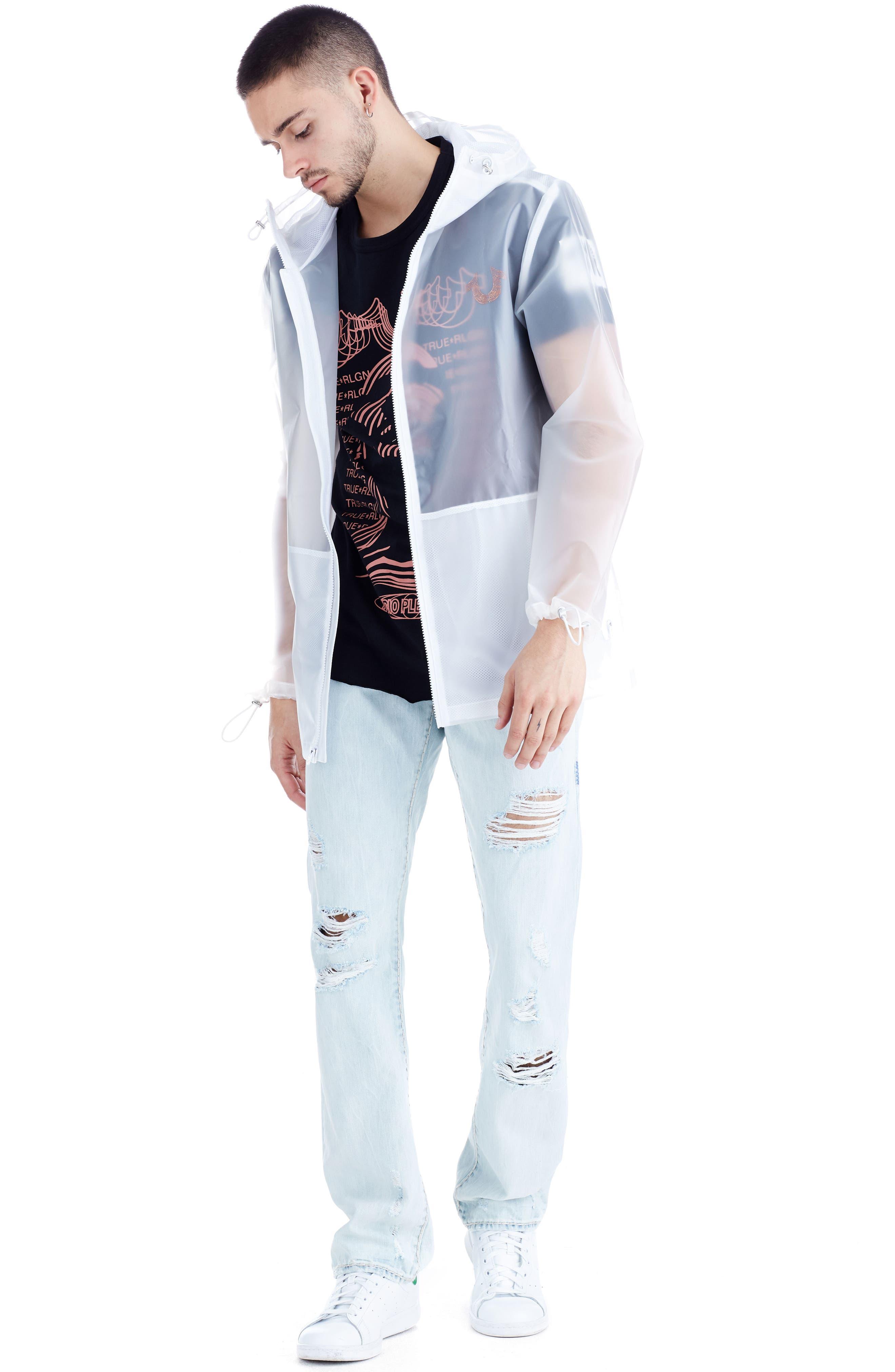 Translucent Rain Jacket,                             Alternate thumbnail 3, color,                             White