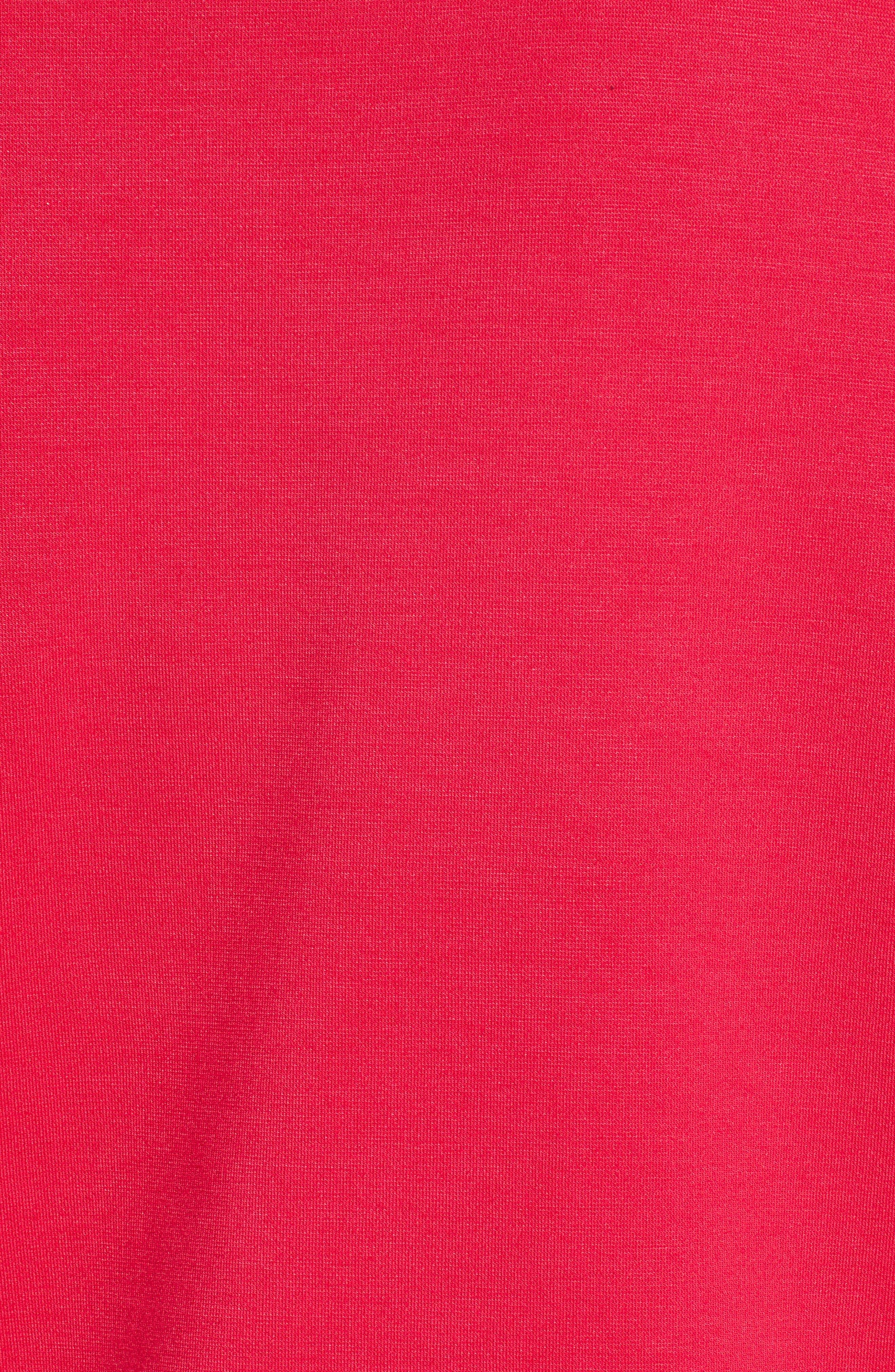One-Shoulder Knit Tee,                             Alternate thumbnail 6, color,                             Azalea