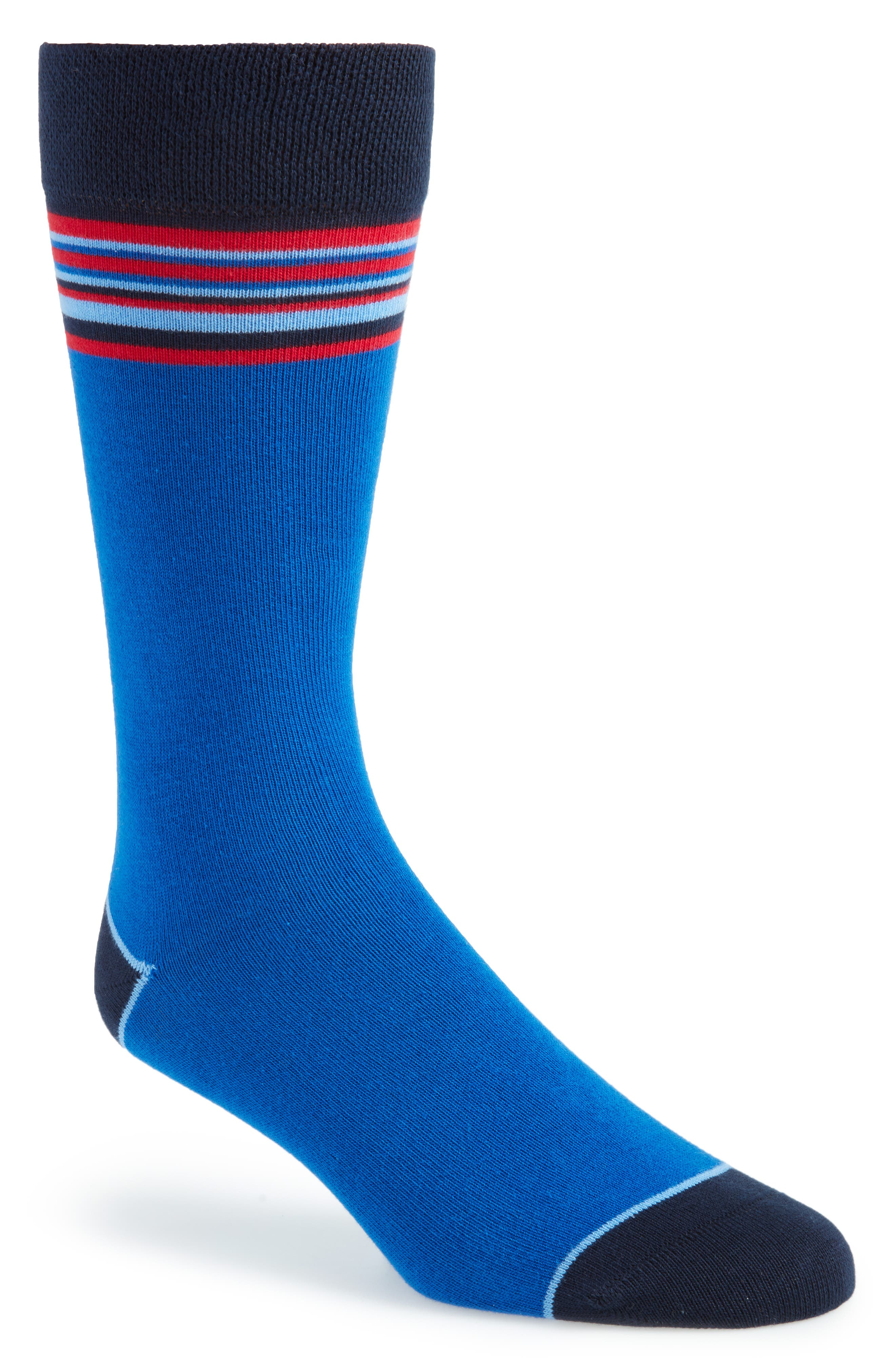 Striped Socks,                         Main,                         color, Blue