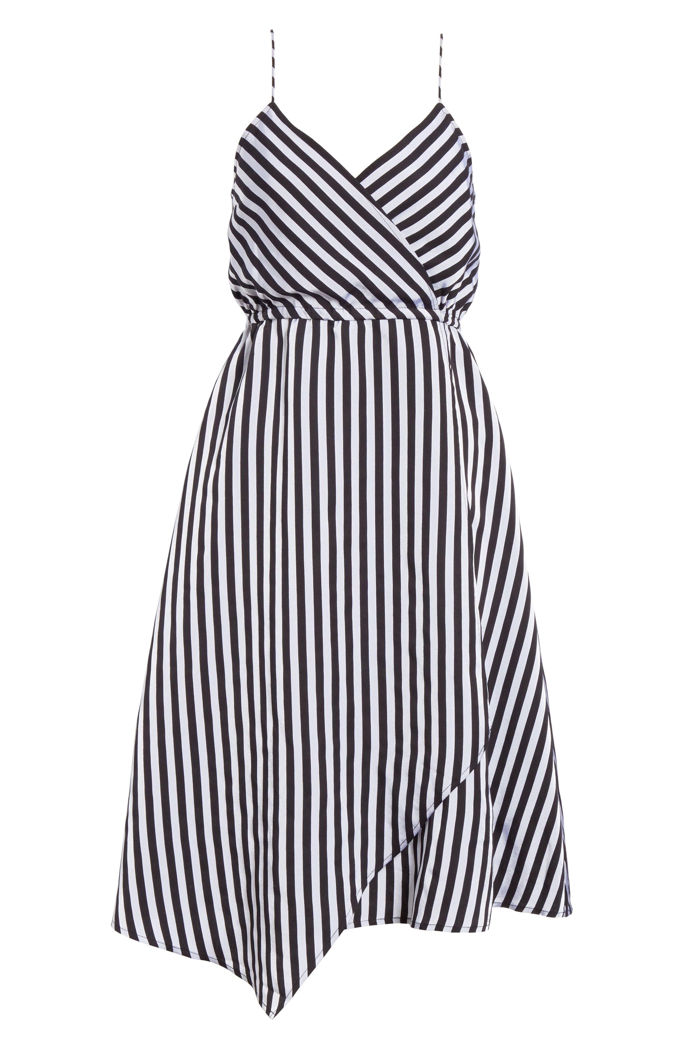 Asymmetrical Hem Slipdress,                             Alternate thumbnail 6, color,                             Black