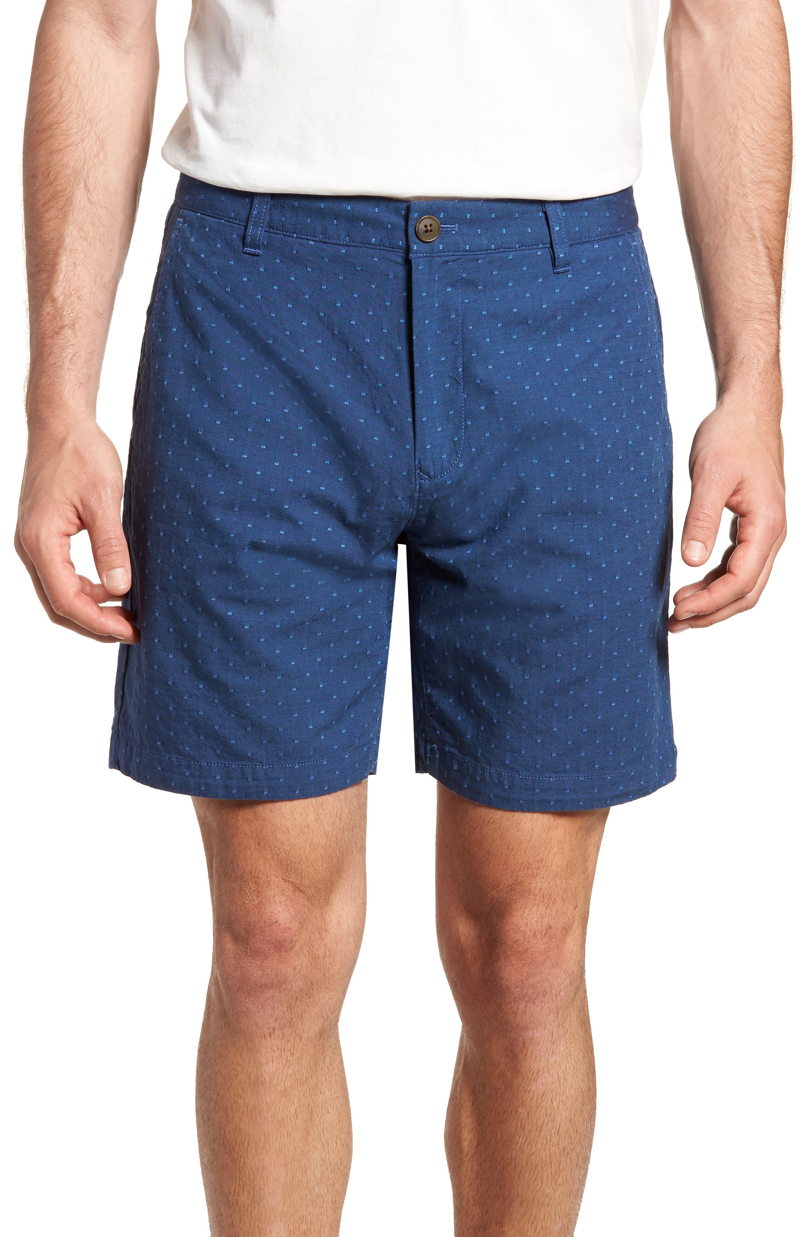Novelty Chino Shorts,                             Main thumbnail 1, color,                             Blue Dot Jacquard