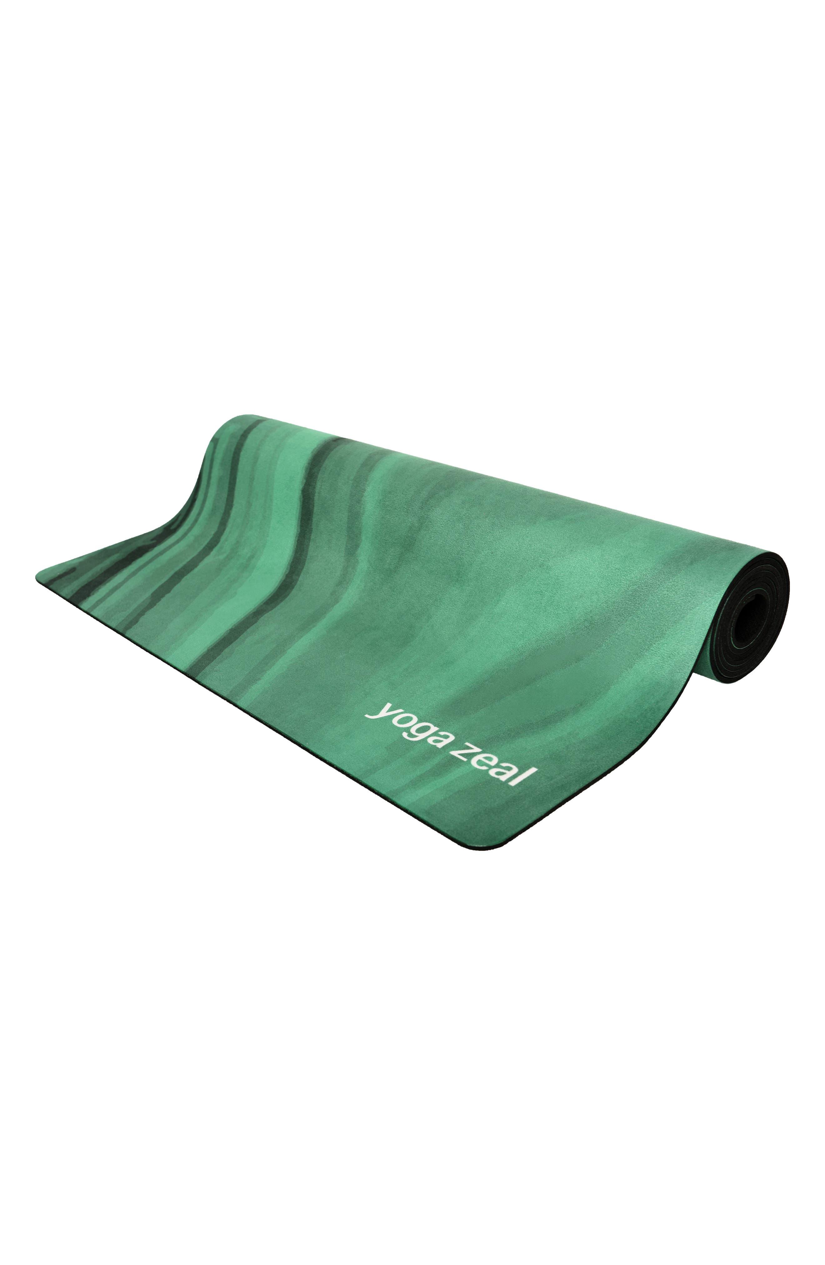 Malachite Print Yoga Mat,                             Alternate thumbnail 2, color,                             Green