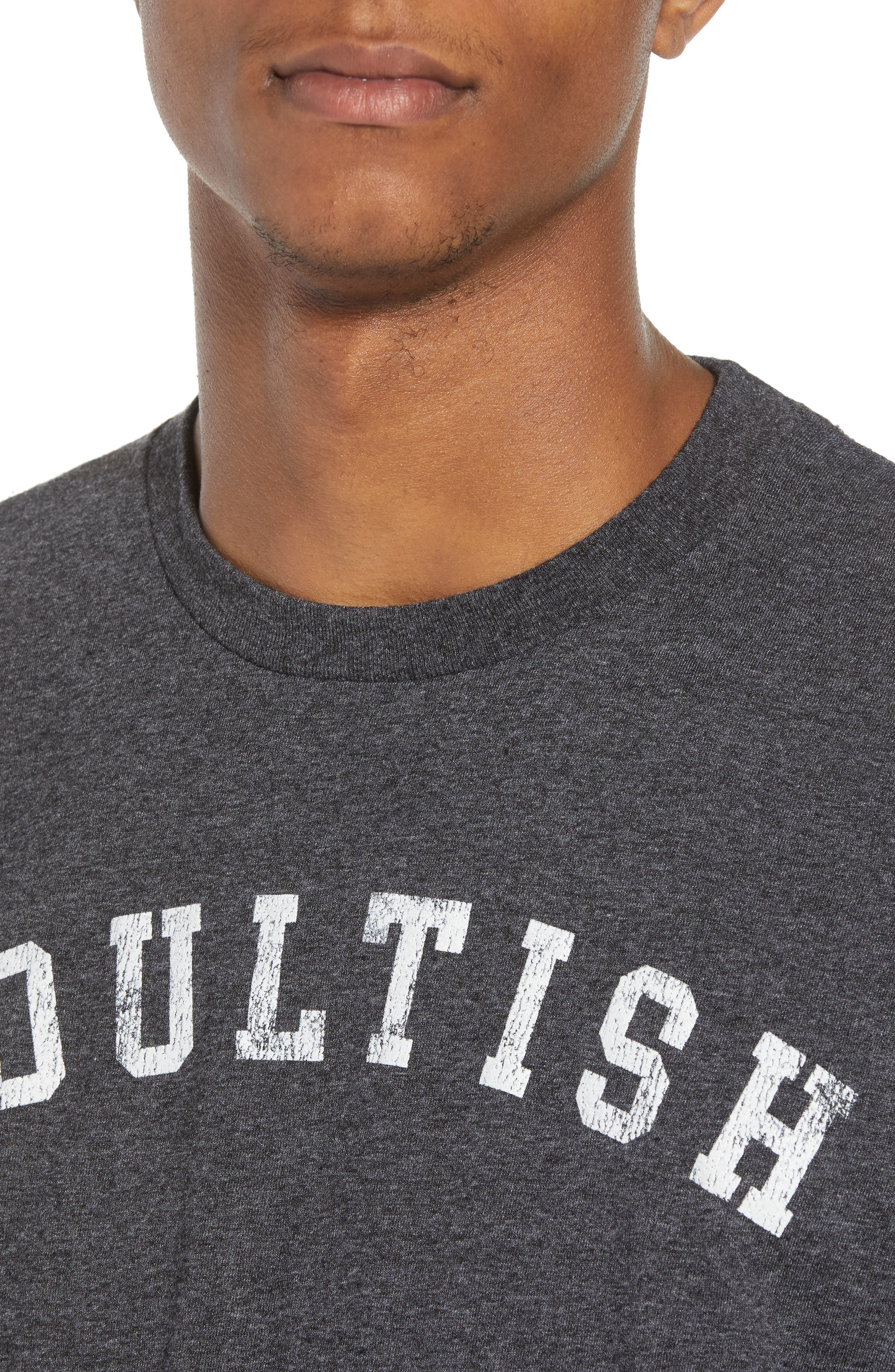 Adultish T-Shirt,                             Alternate thumbnail 4, color,                             Black Tee Adultish