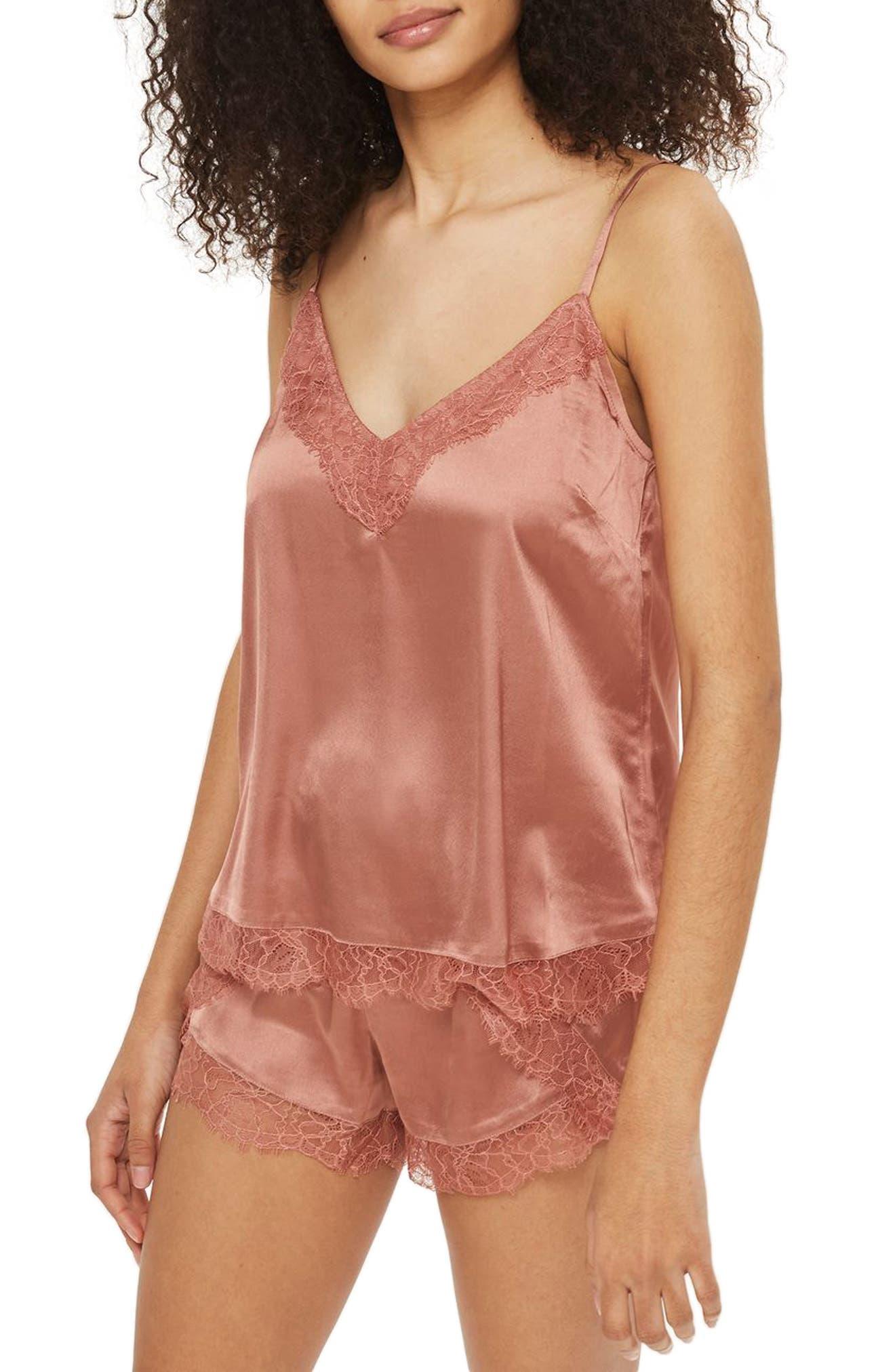Topshop Ella Lace Short Pajama Set