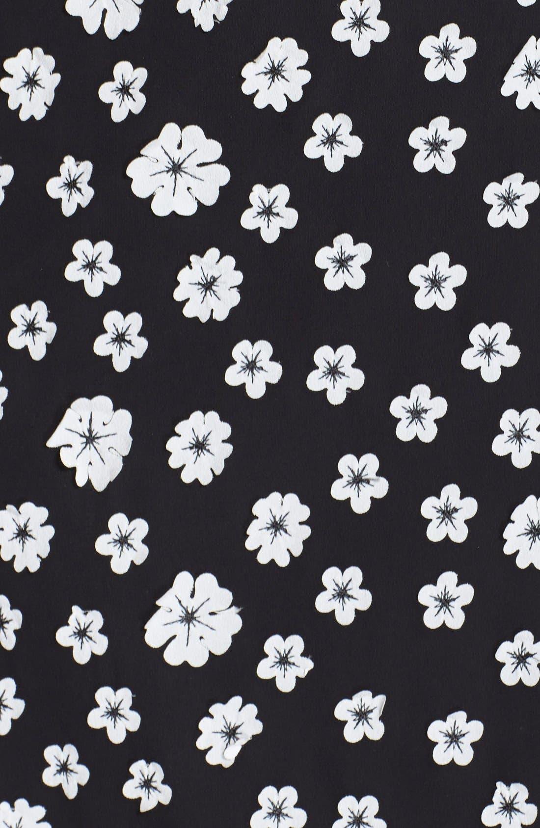 Alternate Image 4  - Adrianna Papell Flower Appliqué Shift Dress