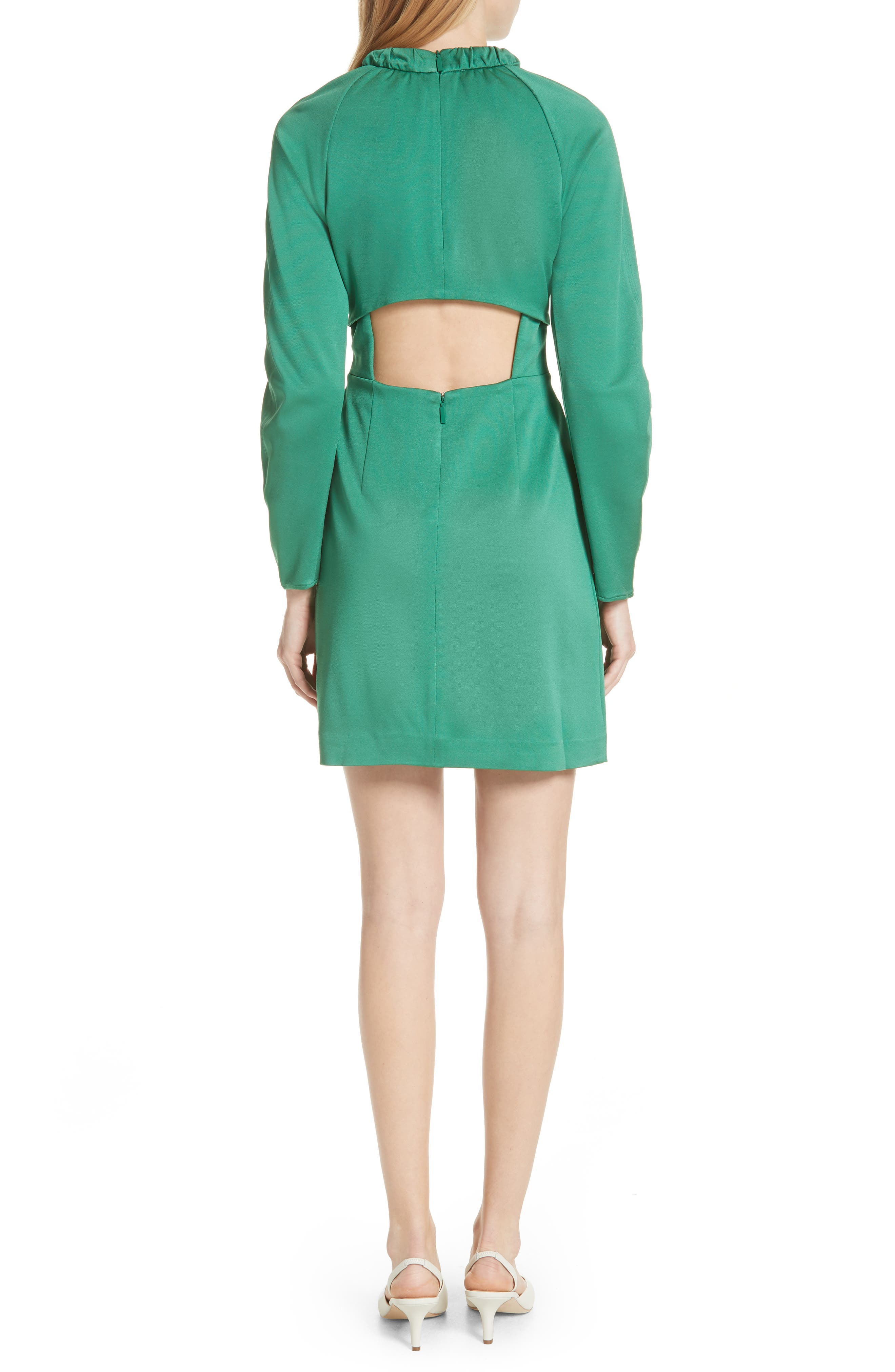 Astor Knit Sheath Dress,                             Alternate thumbnail 2, color,                             Green