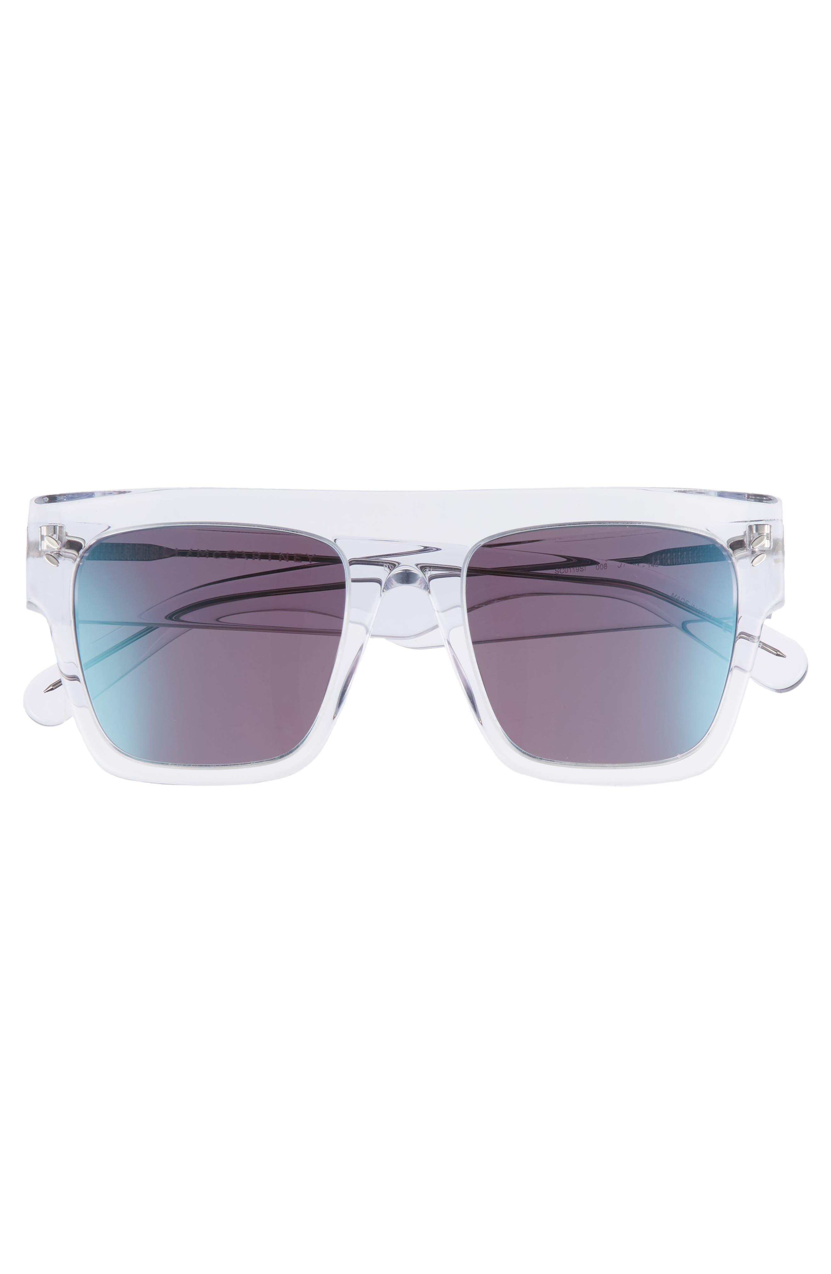 51mm Flattop Sunglasses,                             Alternate thumbnail 3, color,                             Crystal