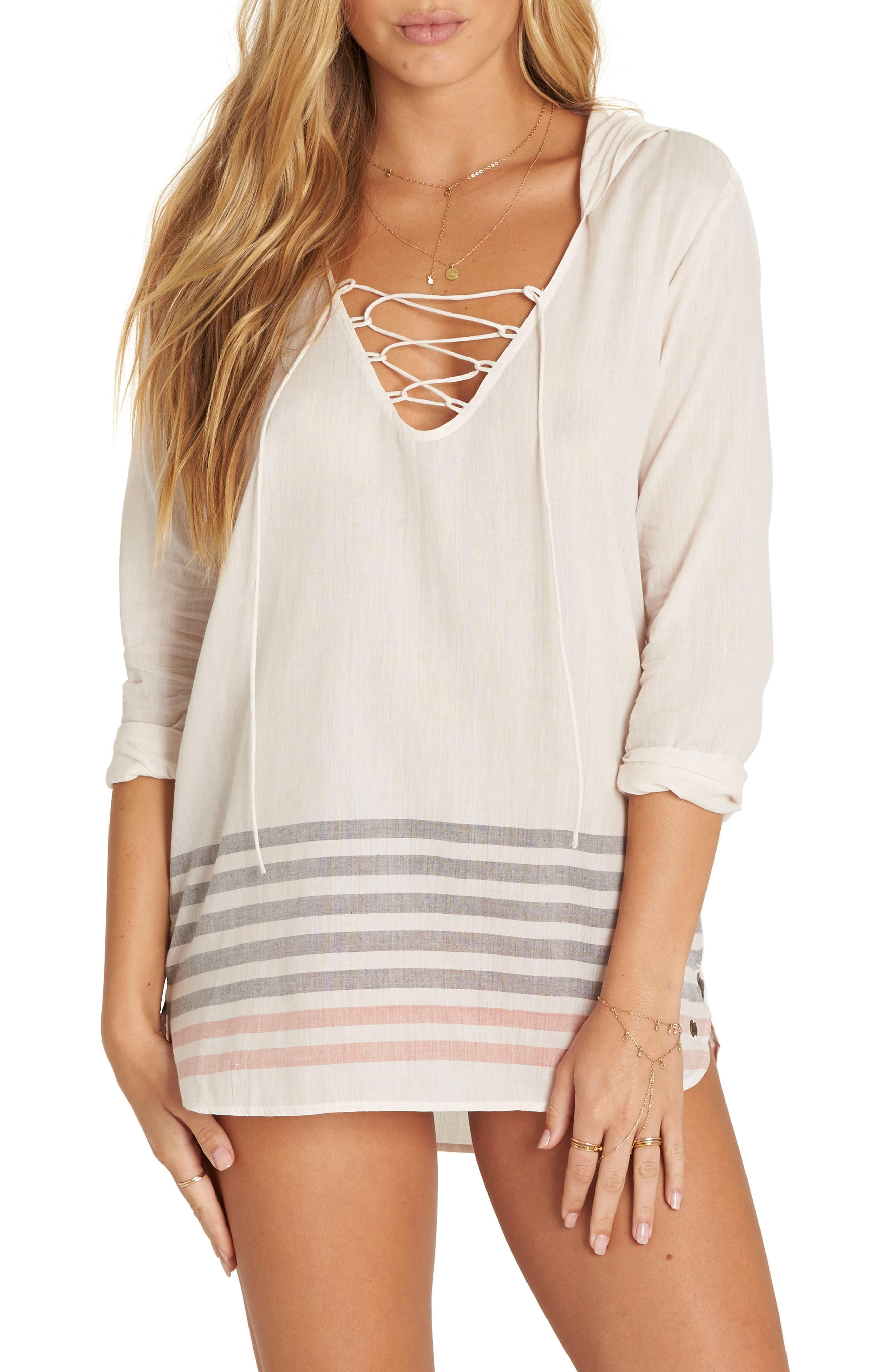 Same Story Cover-Up Tunic,                             Main thumbnail 1, color,                             Ivory Multi