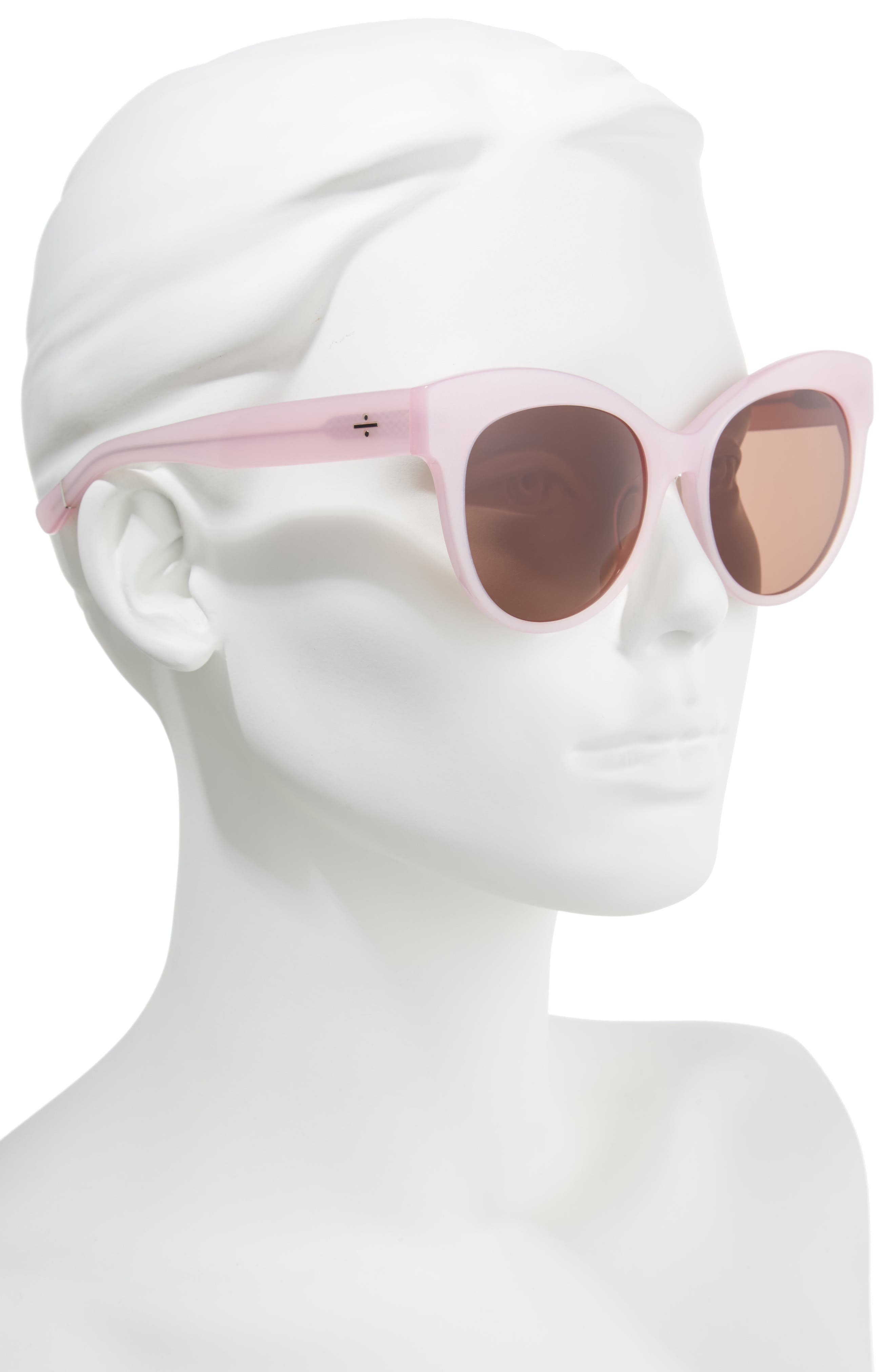 BLANC & ECLARE Paris 55mm Polarized Cat Eye Sunglasses,                             Alternate thumbnail 2, color,                             Blush