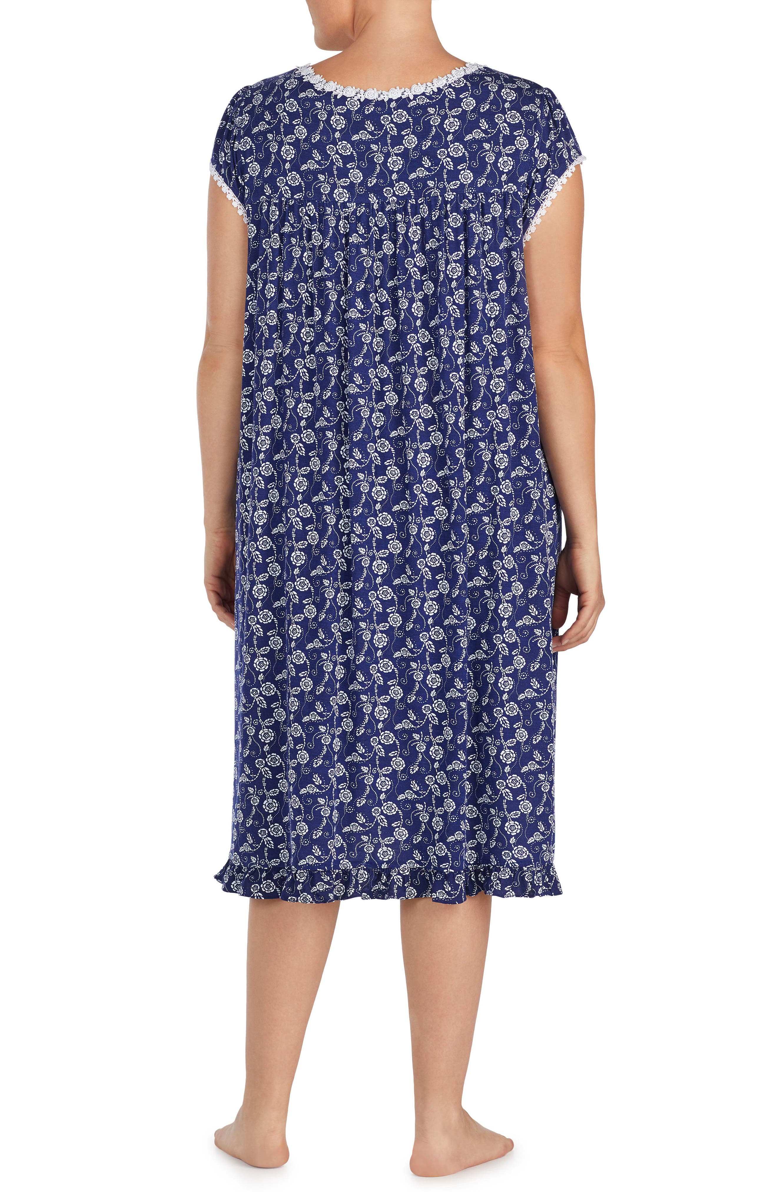 Alternate Image 2  - Eileen West Print Nightgown (Plus Size)