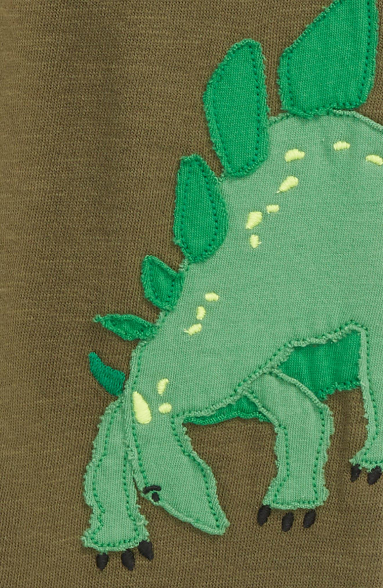 Dinosaur Appliqué Jogger Sweatpants,                             Alternate thumbnail 2, color,                             Khaki Green Dinos