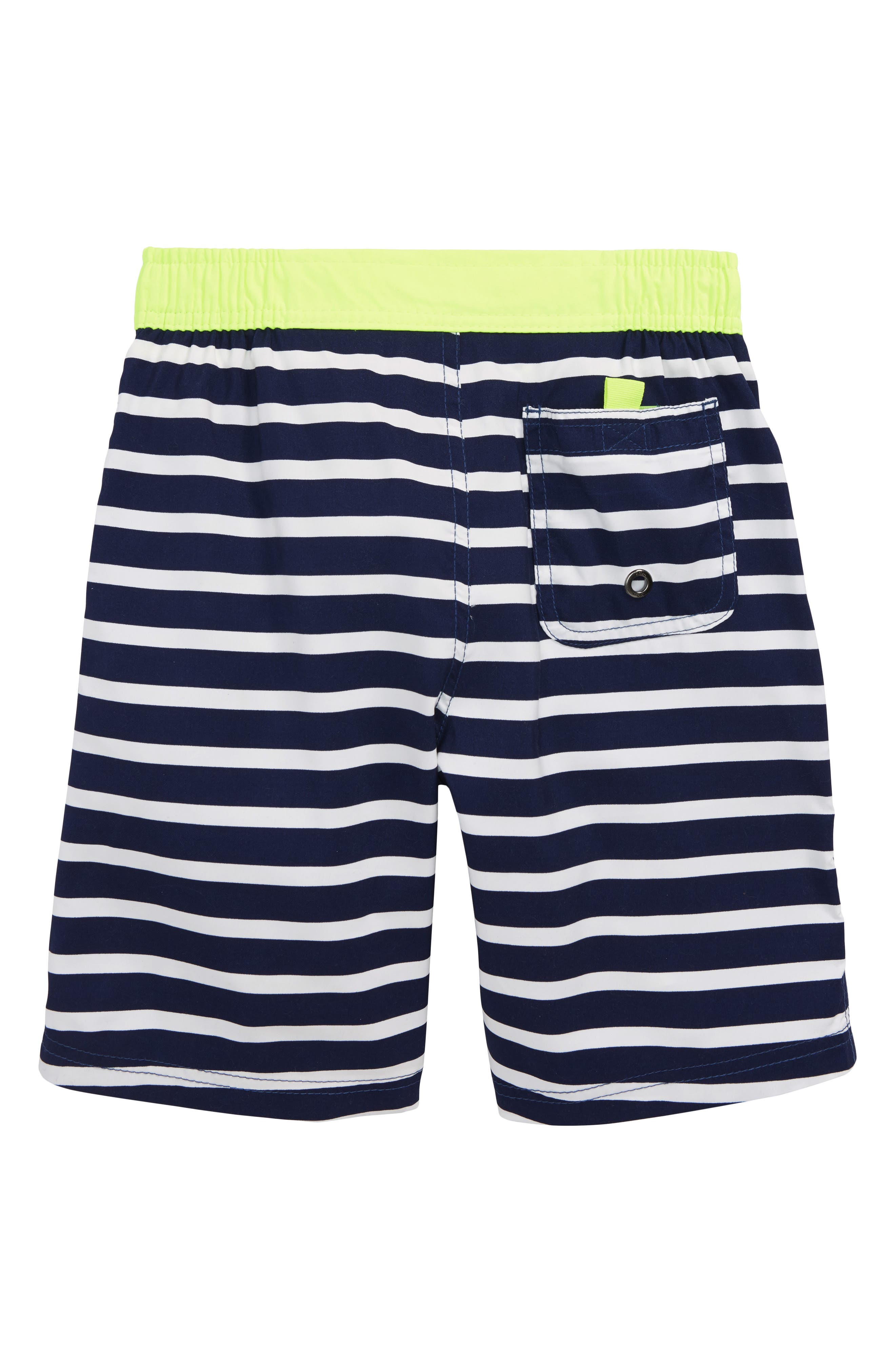 Stripe Board Shorts,                             Alternate thumbnail 2, color,                             Beacon Blue/ Ecru