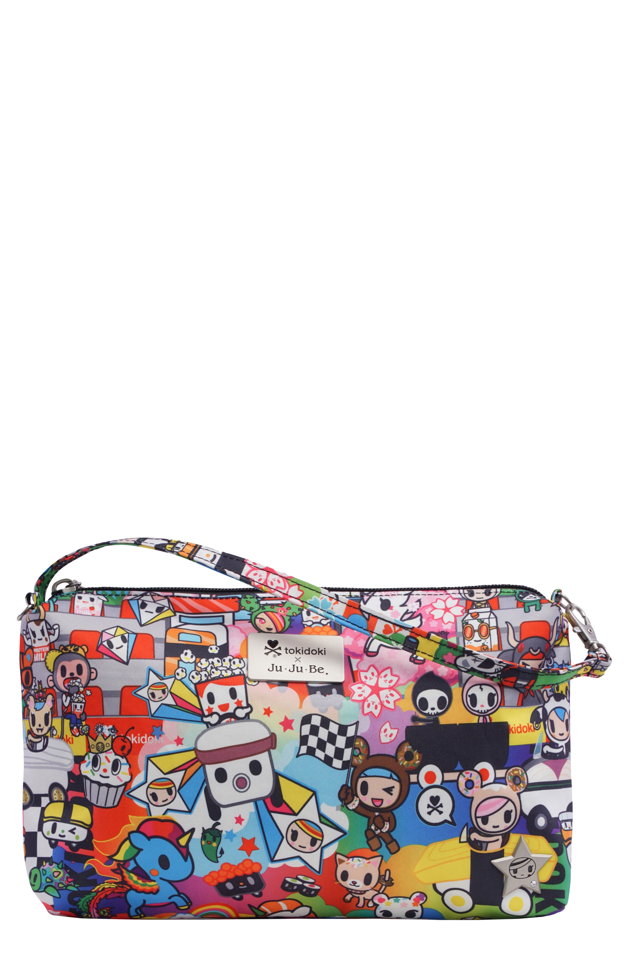 'Be Quick' Wristlet Pouch,                         Main,                         color, Sushi Cars