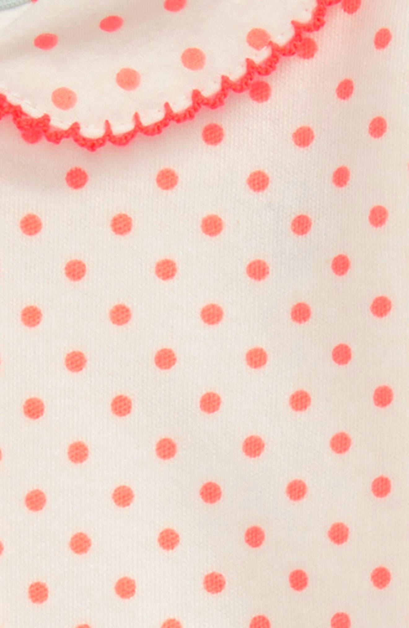 Alternate Image 2  - Mini Boden Summer Collar Bodysuit (Baby Girls)