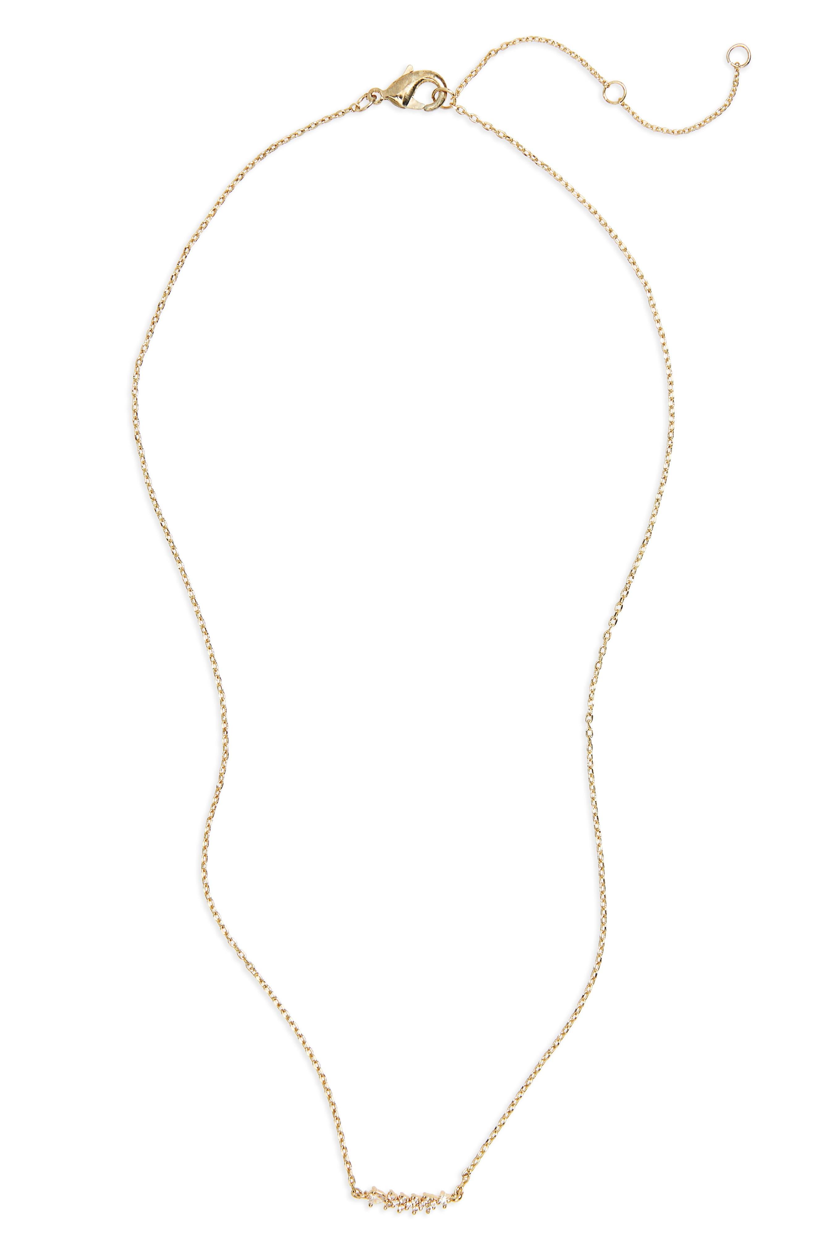 Cluster Pendant Necklace,                         Main,                         color, Gold