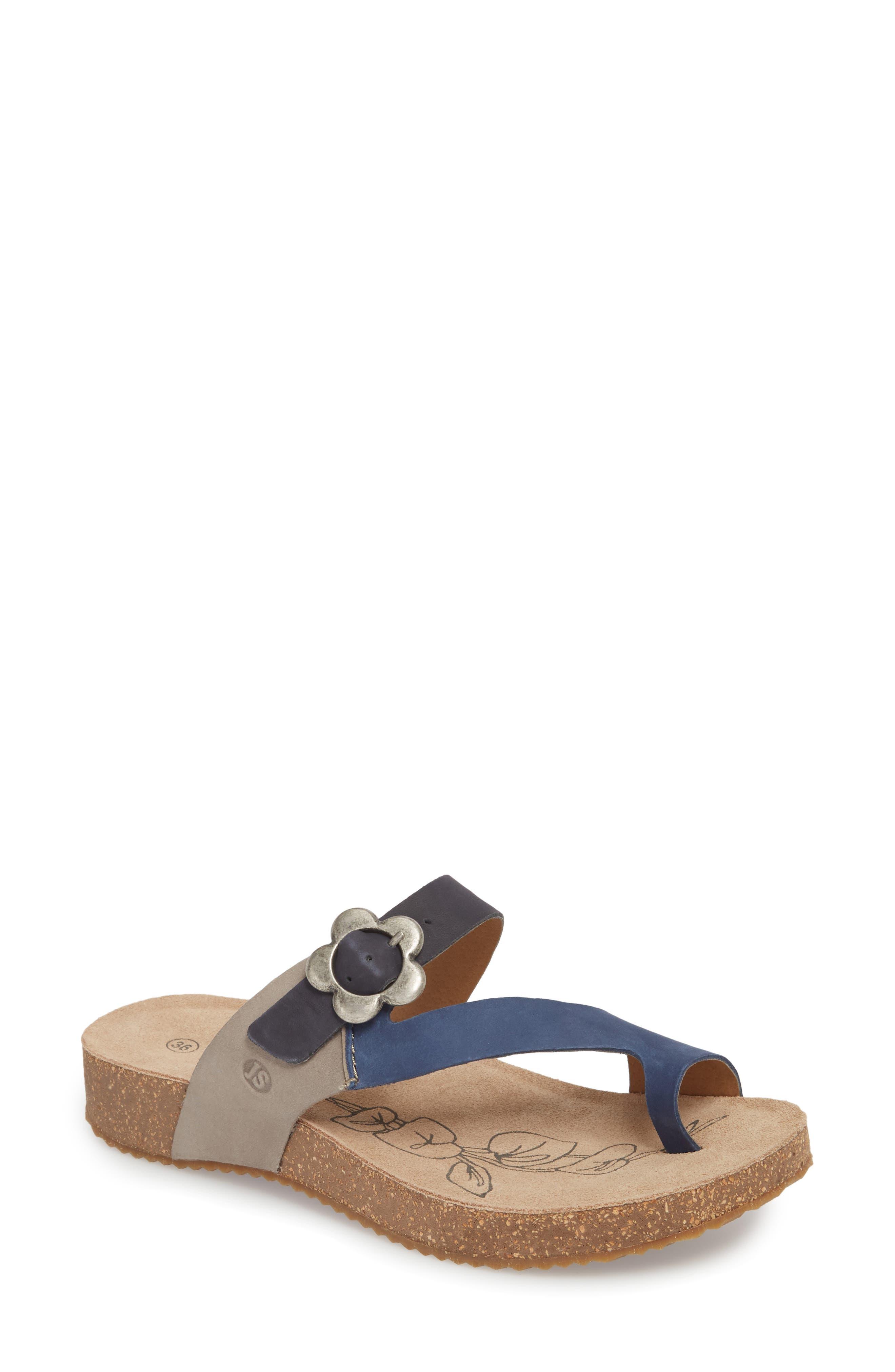 Tonga 23 Sandal,                             Main thumbnail 1, color,                             Blue Multi Leather
