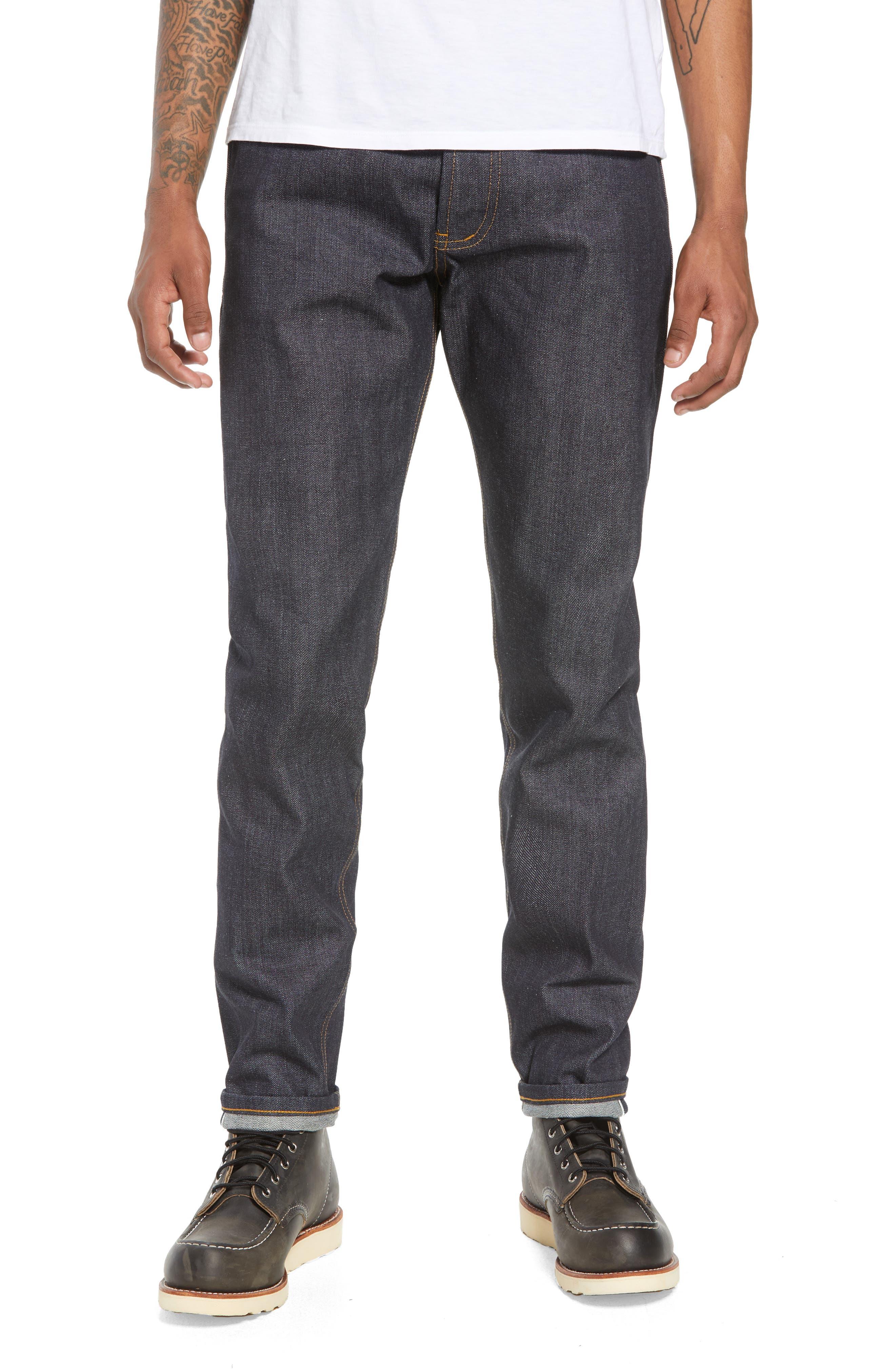 Naked & Famous Denim Easy Guy Skinny Fit Jeans (Left Hand Twill Selvedge)