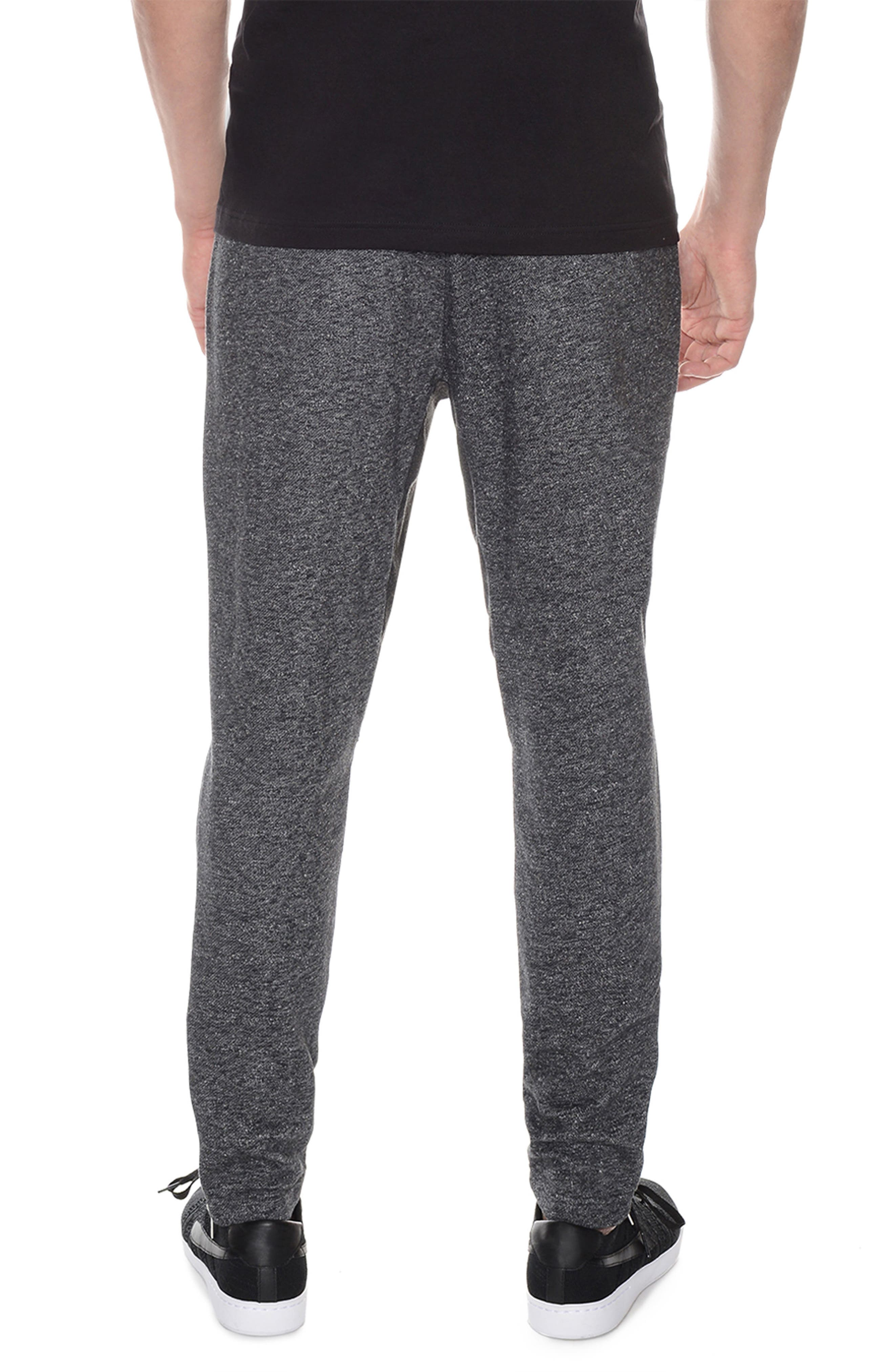 French Terry Lounge Pants,                             Alternate thumbnail 2, color,                             Black Heather