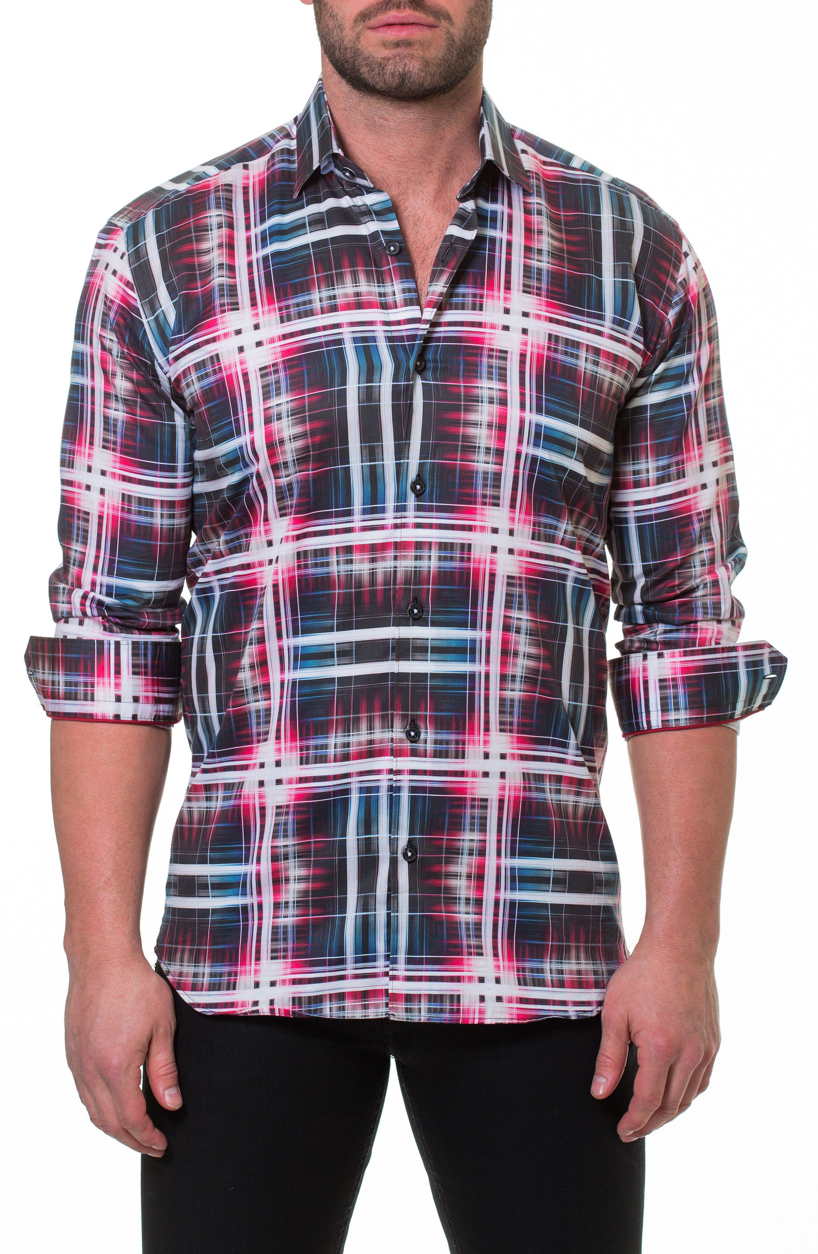 Luxor Fiber Slim Fit Sport Shirt,                         Main,                         color, Red