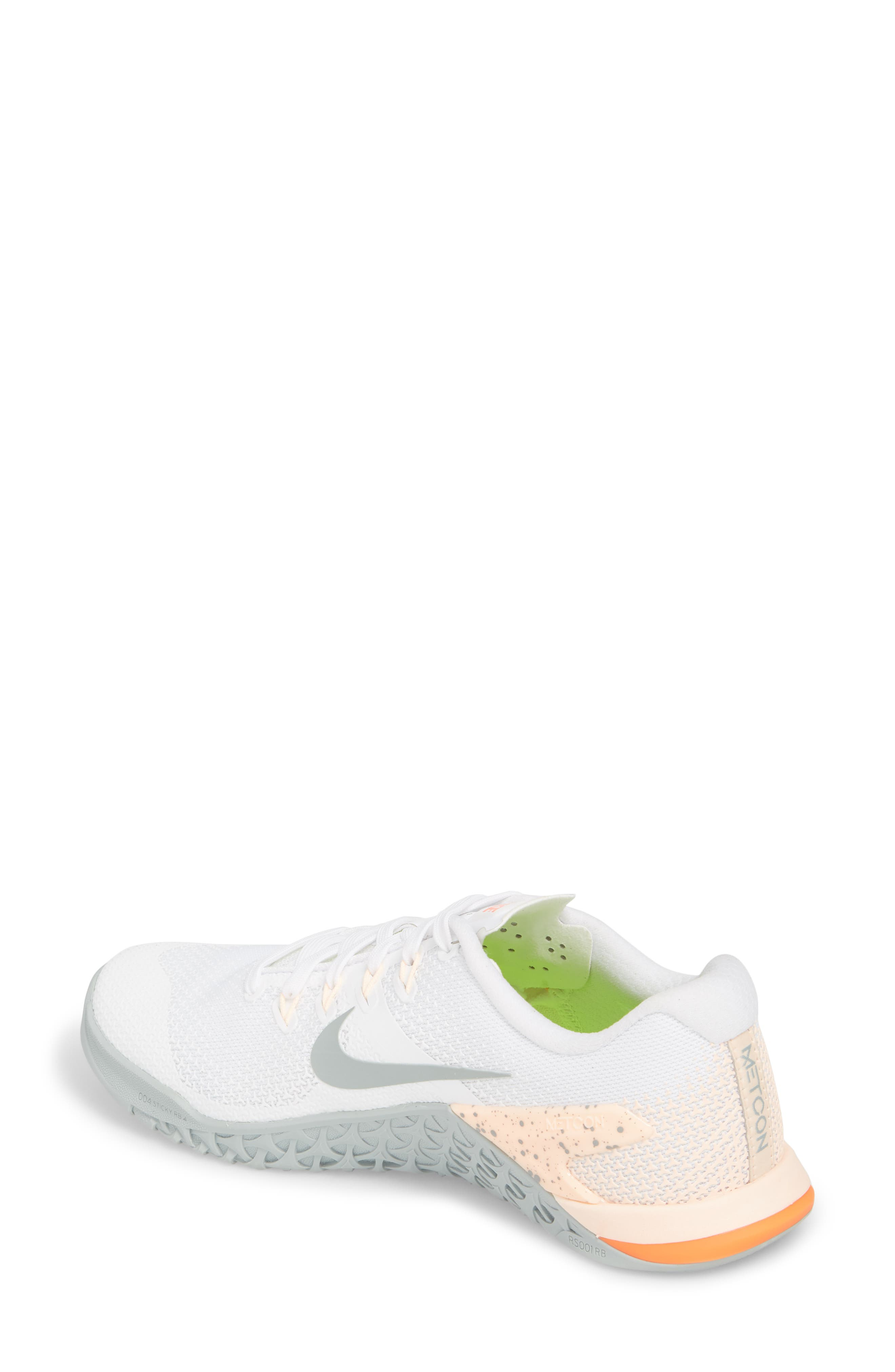 Metcon 4 Training Shoe,                             Alternate thumbnail 2, color,                             White/ Light Pumice