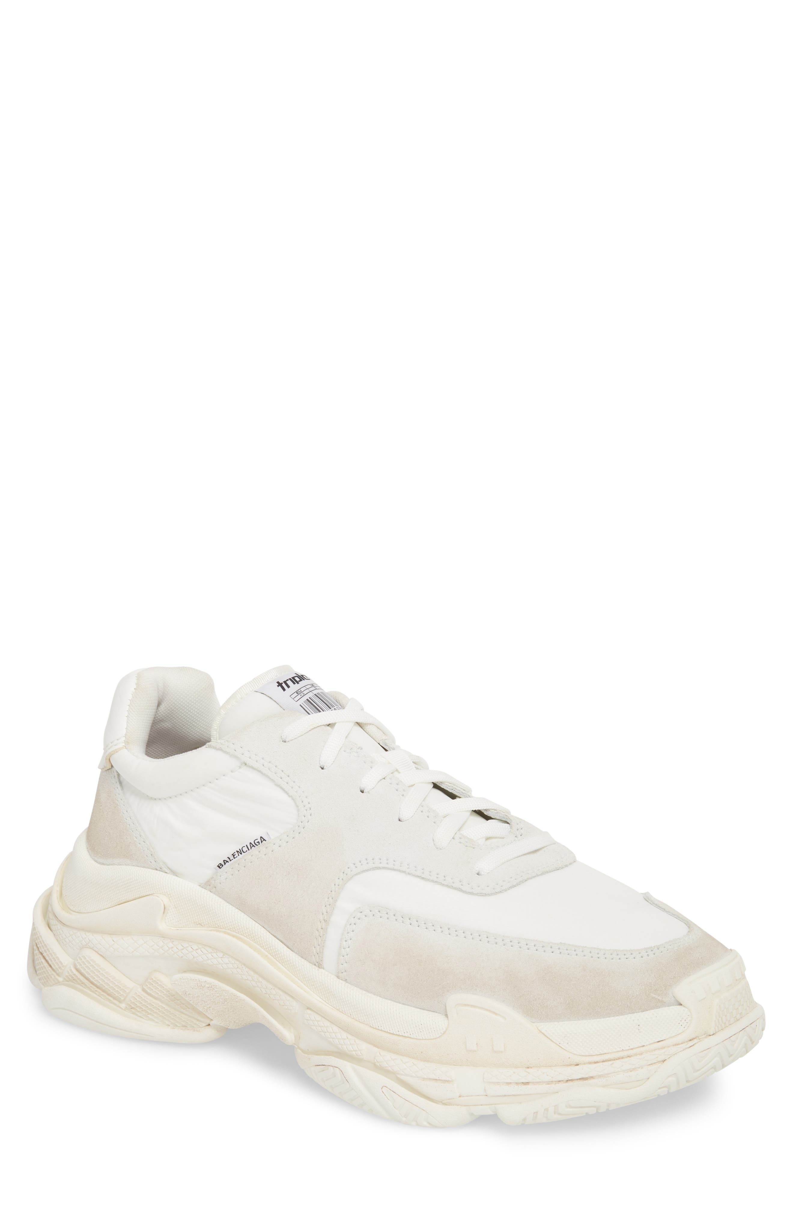 Triple S Retro Sneaker,                             Main thumbnail 1, color,                             Blanc White