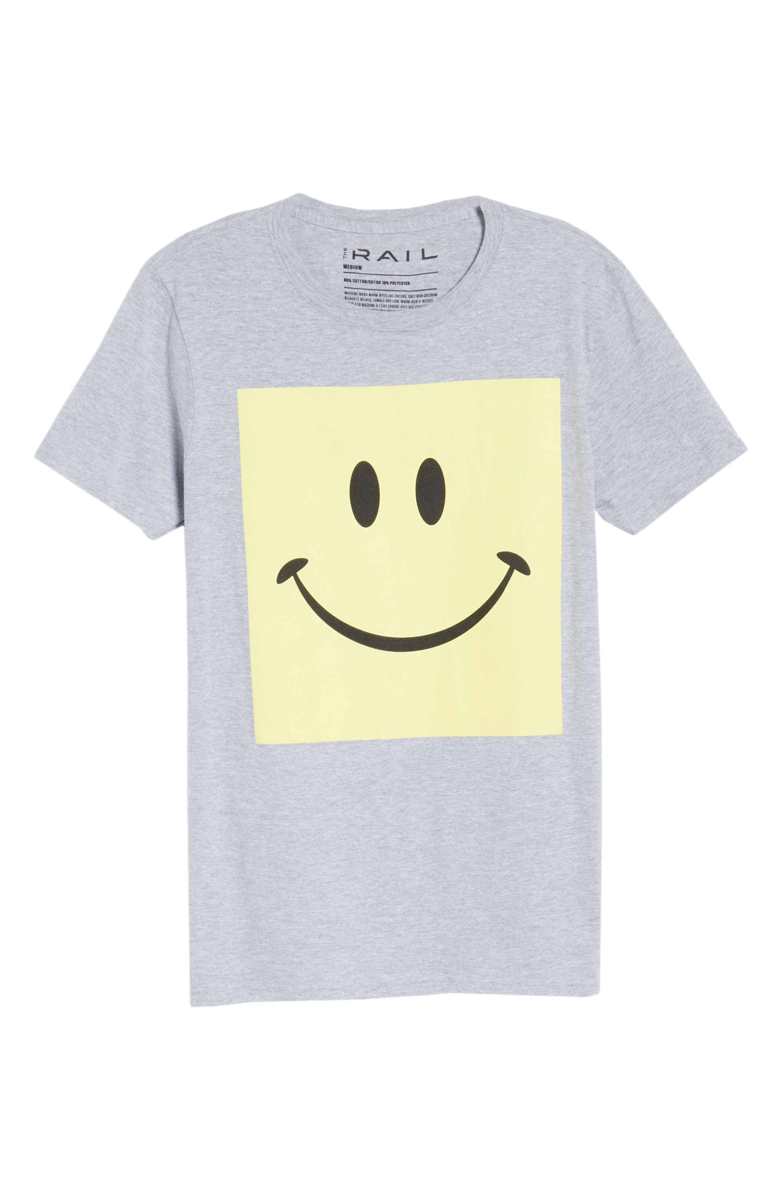 Box Smiley Graphic T-Shirt,                             Alternate thumbnail 6, color,                             Grey Heather Box Smile