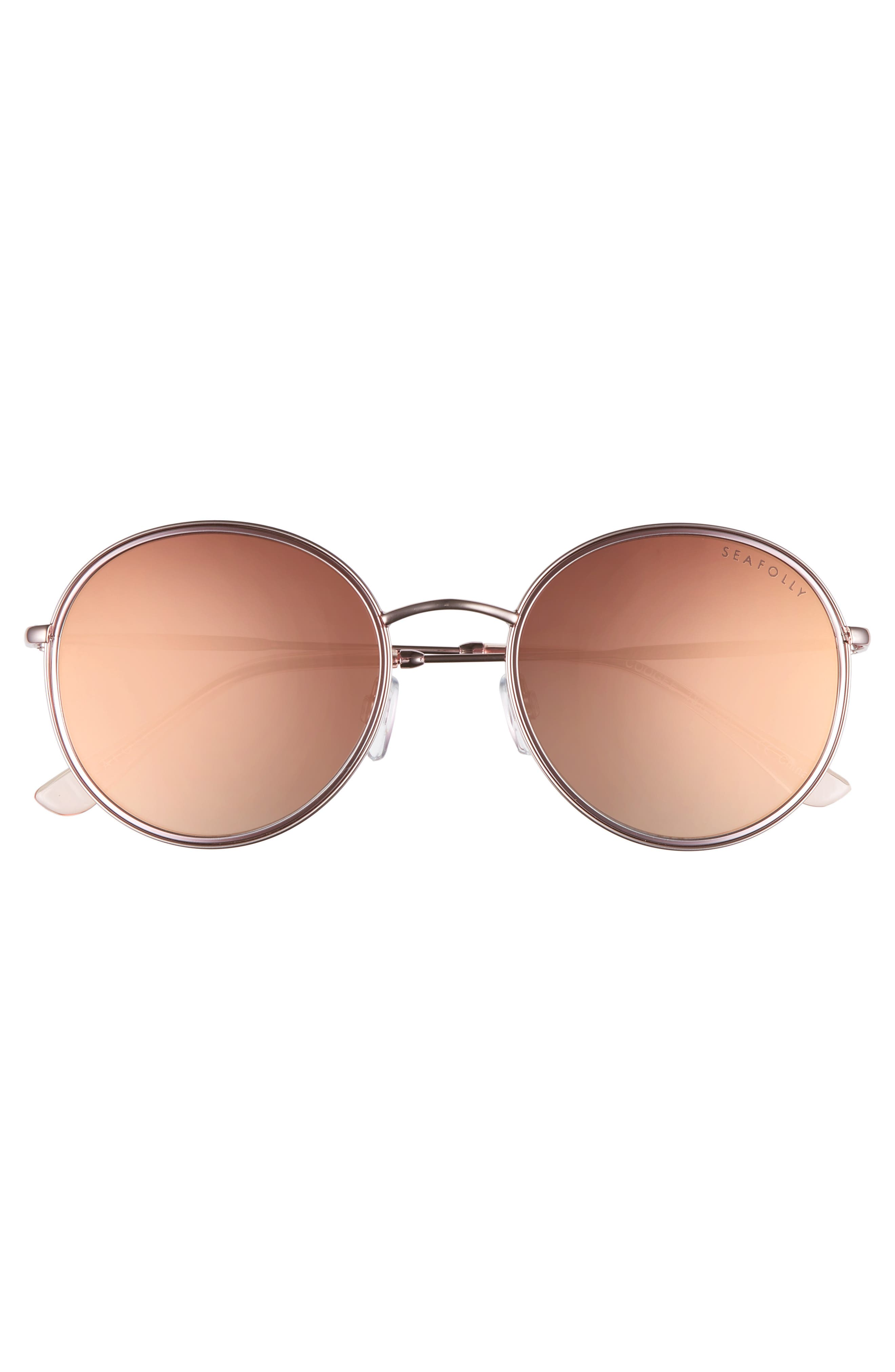 Coogee 54mm Round Sunglasses,                             Alternate thumbnail 3, color,                             Rose