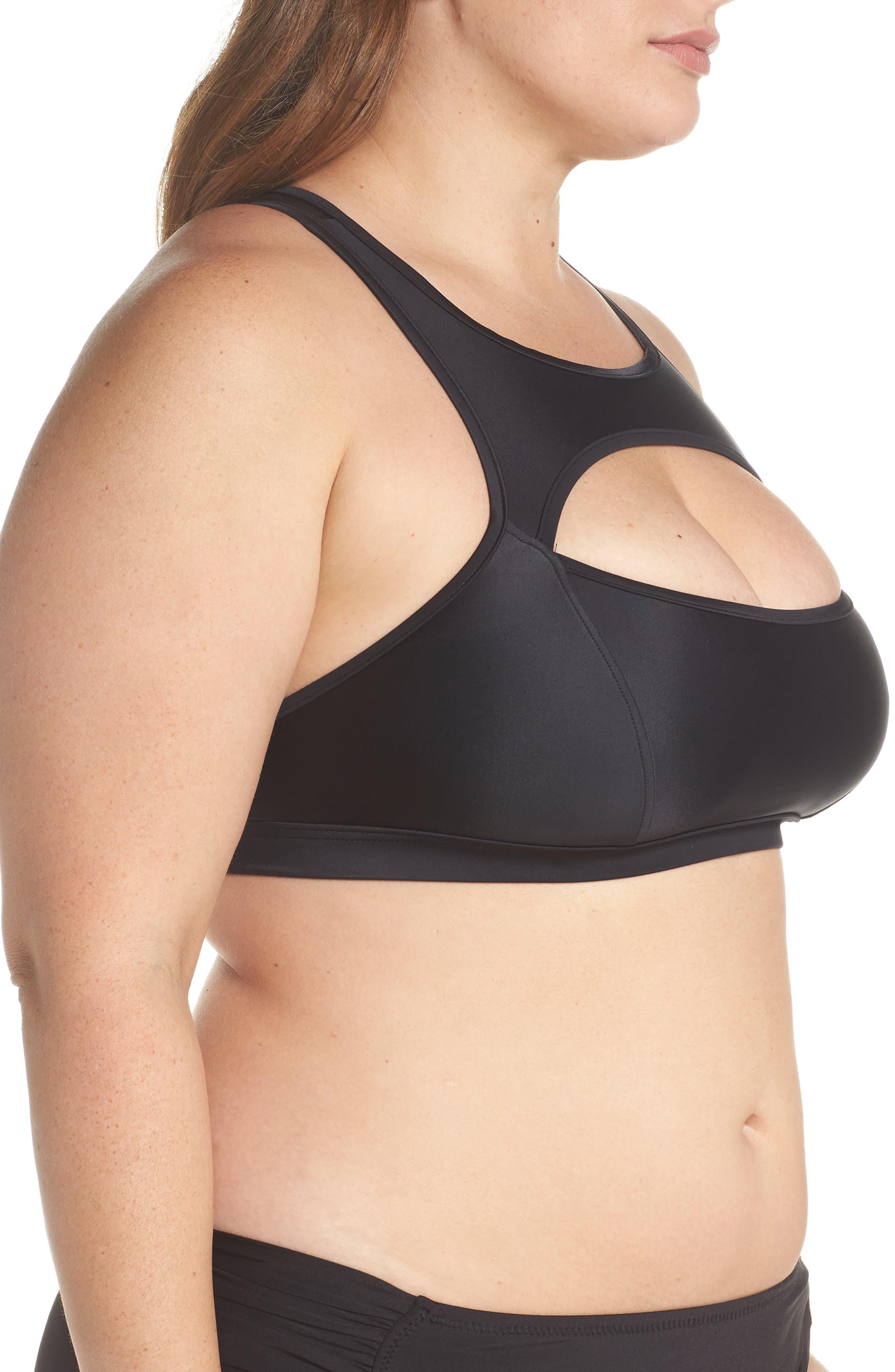Saldana Cutout Bikini Top,                             Alternate thumbnail 3, color,                             Black