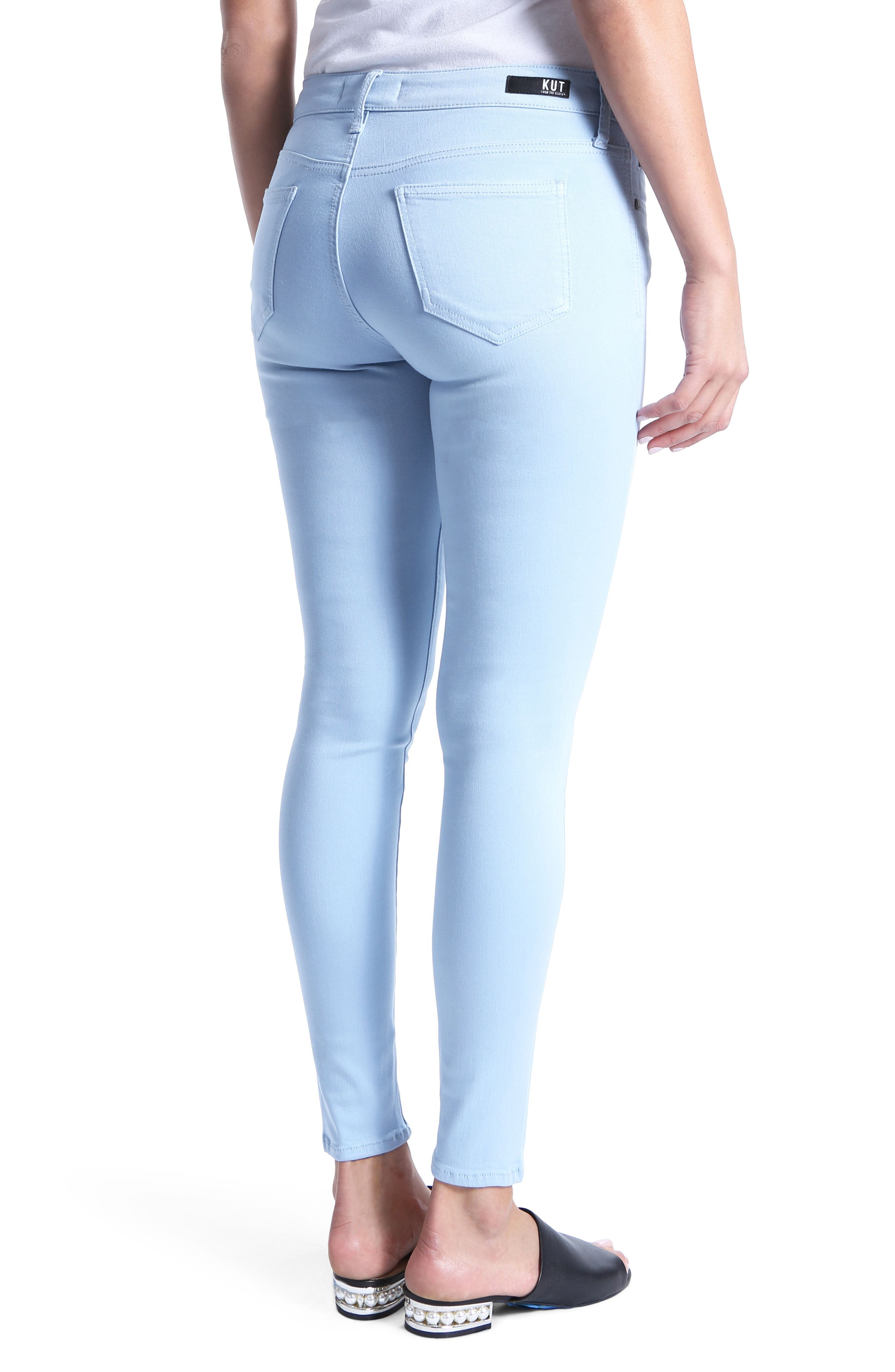 Mia Ankle Toothpick Jeans,                             Alternate thumbnail 2, color,                             Blue
