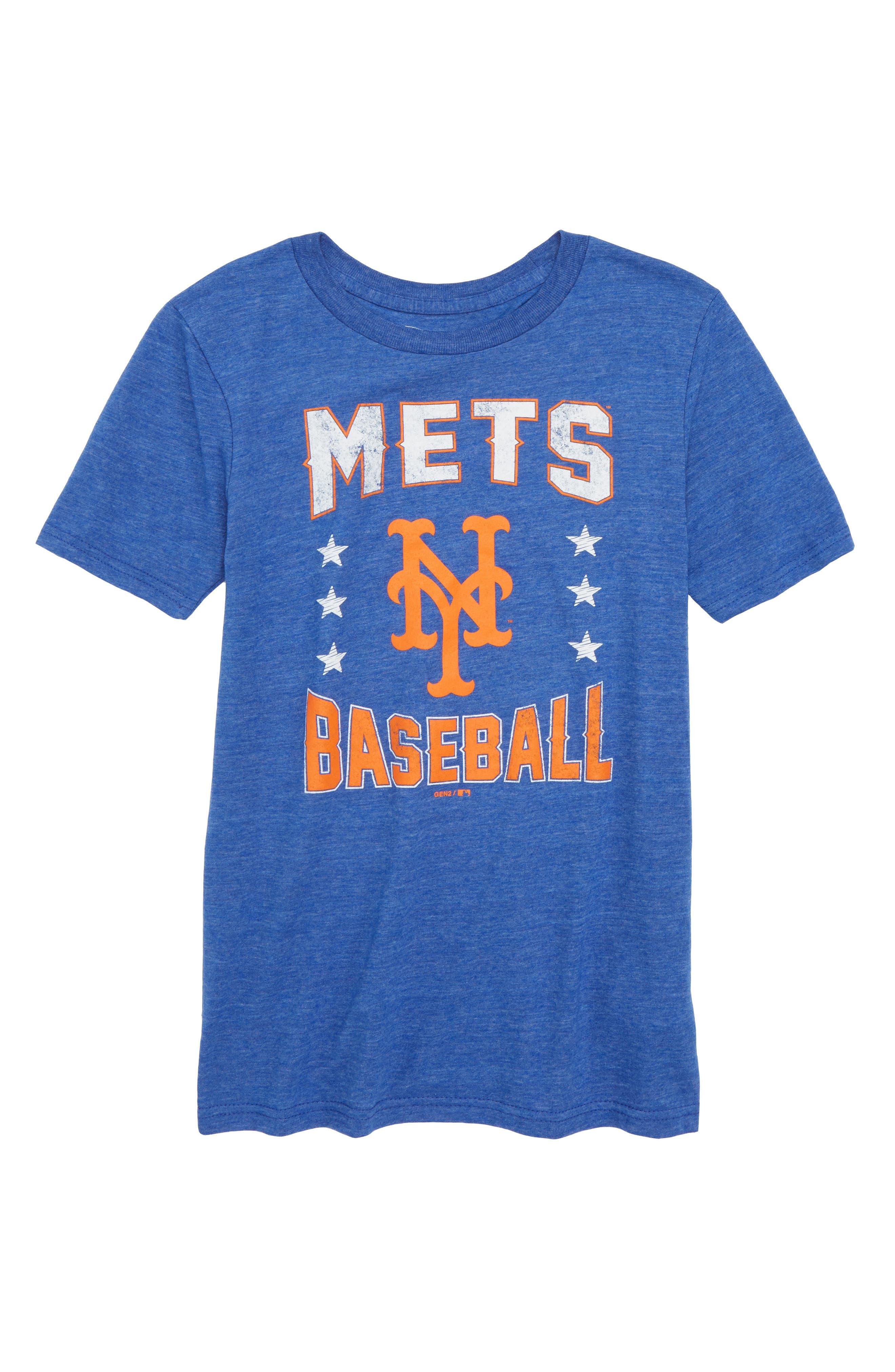New York Mets Triple Play T-Shirt,                         Main,                         color, Royal