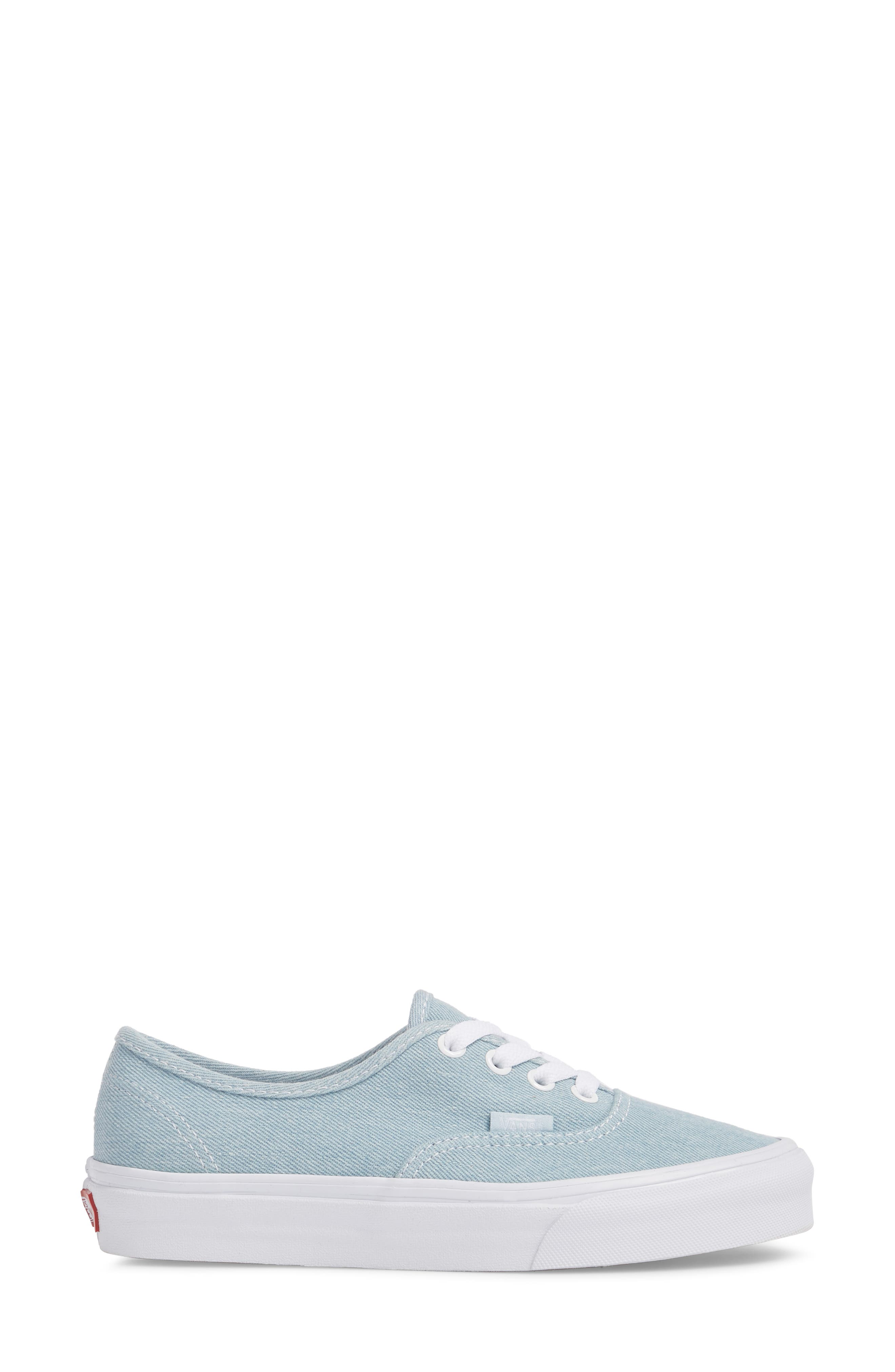 'Authentic' Sneaker,                             Alternate thumbnail 5, color,                             Denim Baby Blue