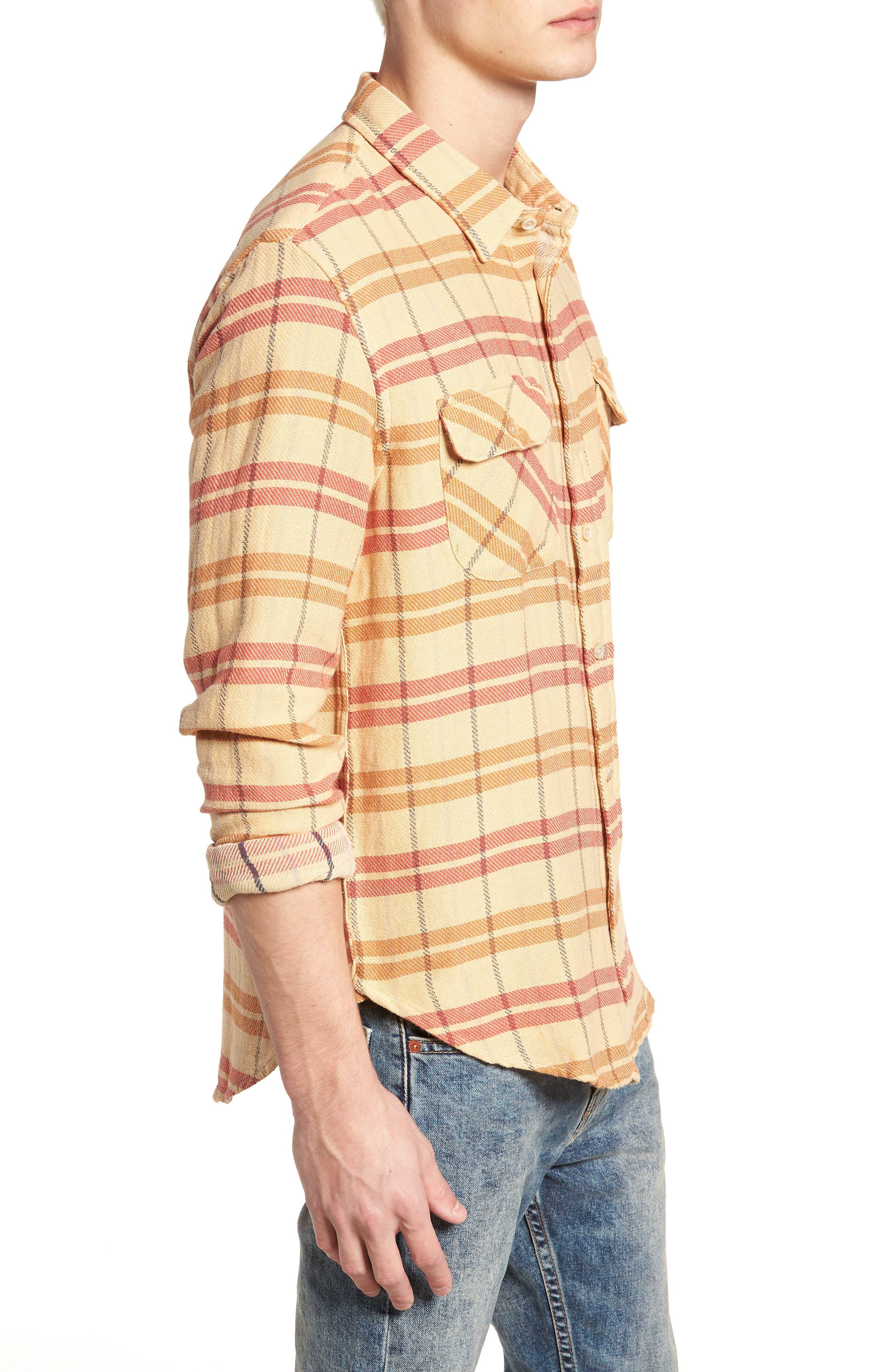 Shorthorn Western Shirt,                             Alternate thumbnail 4, color,                             Sunfaded Orange