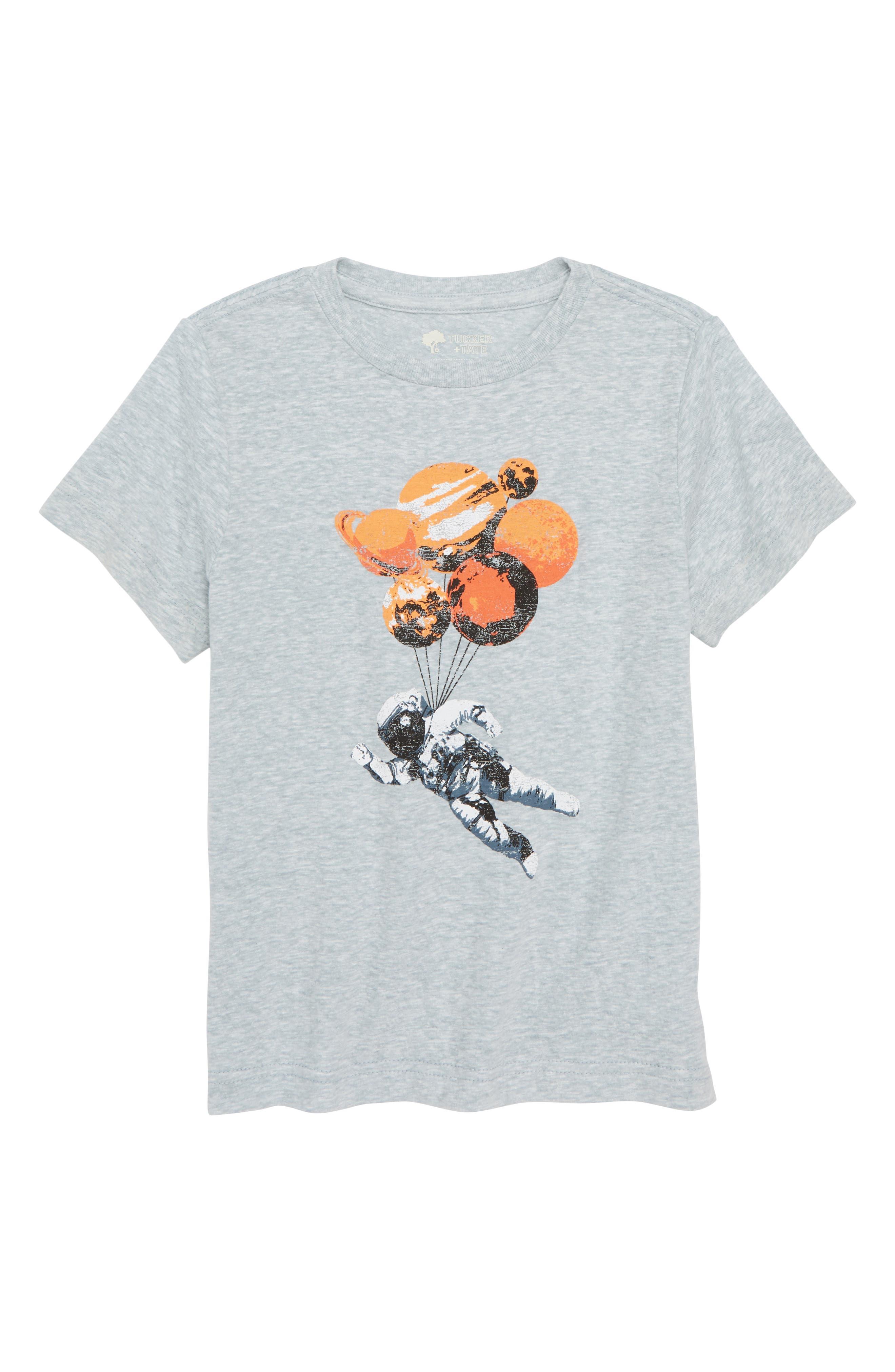 Graphic T-Shirt,                         Main,                         color, Blue Cendre Moon Man