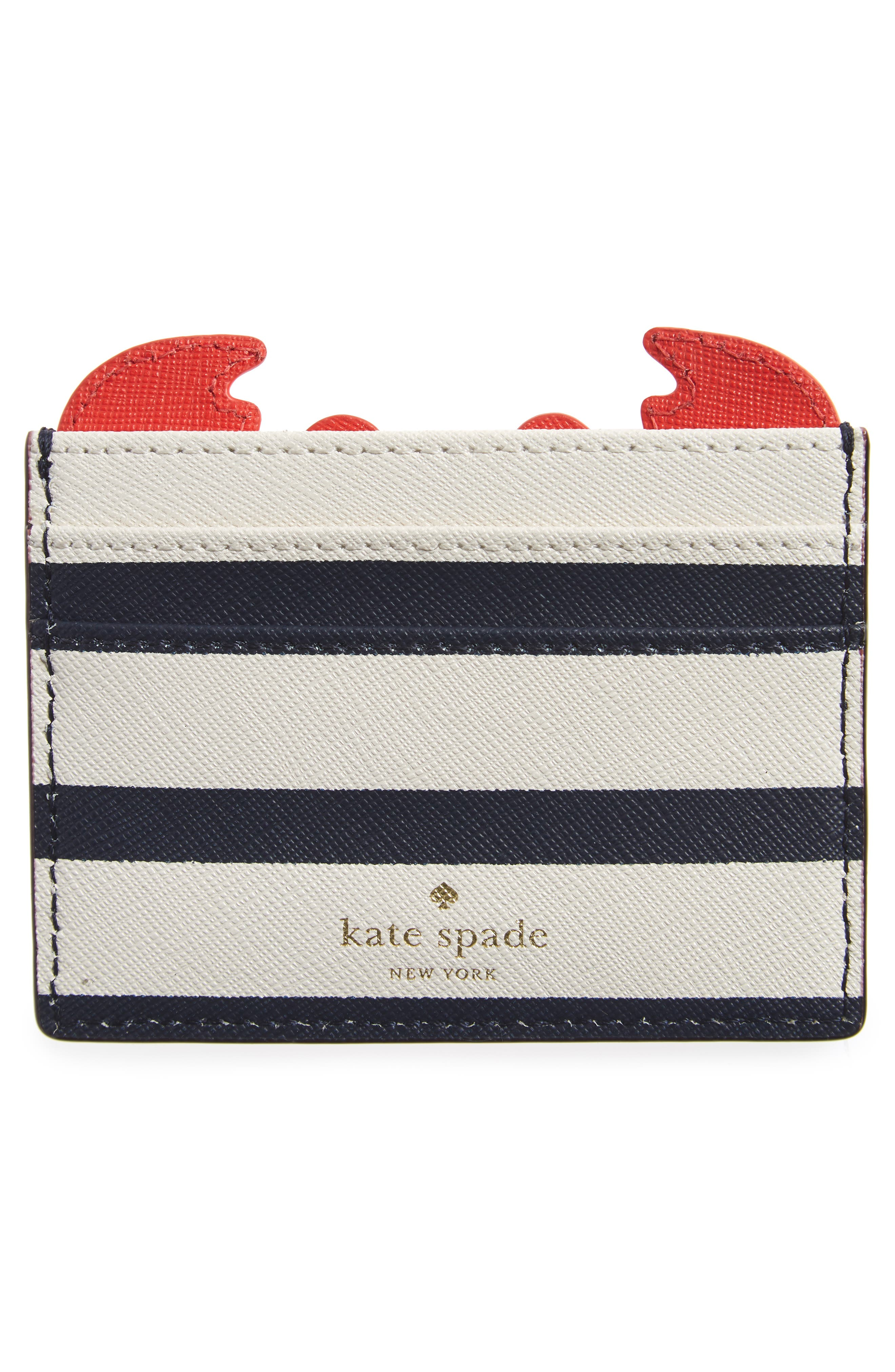 Alternate Image 2  - kate spade new york shore thing - crab leather card case