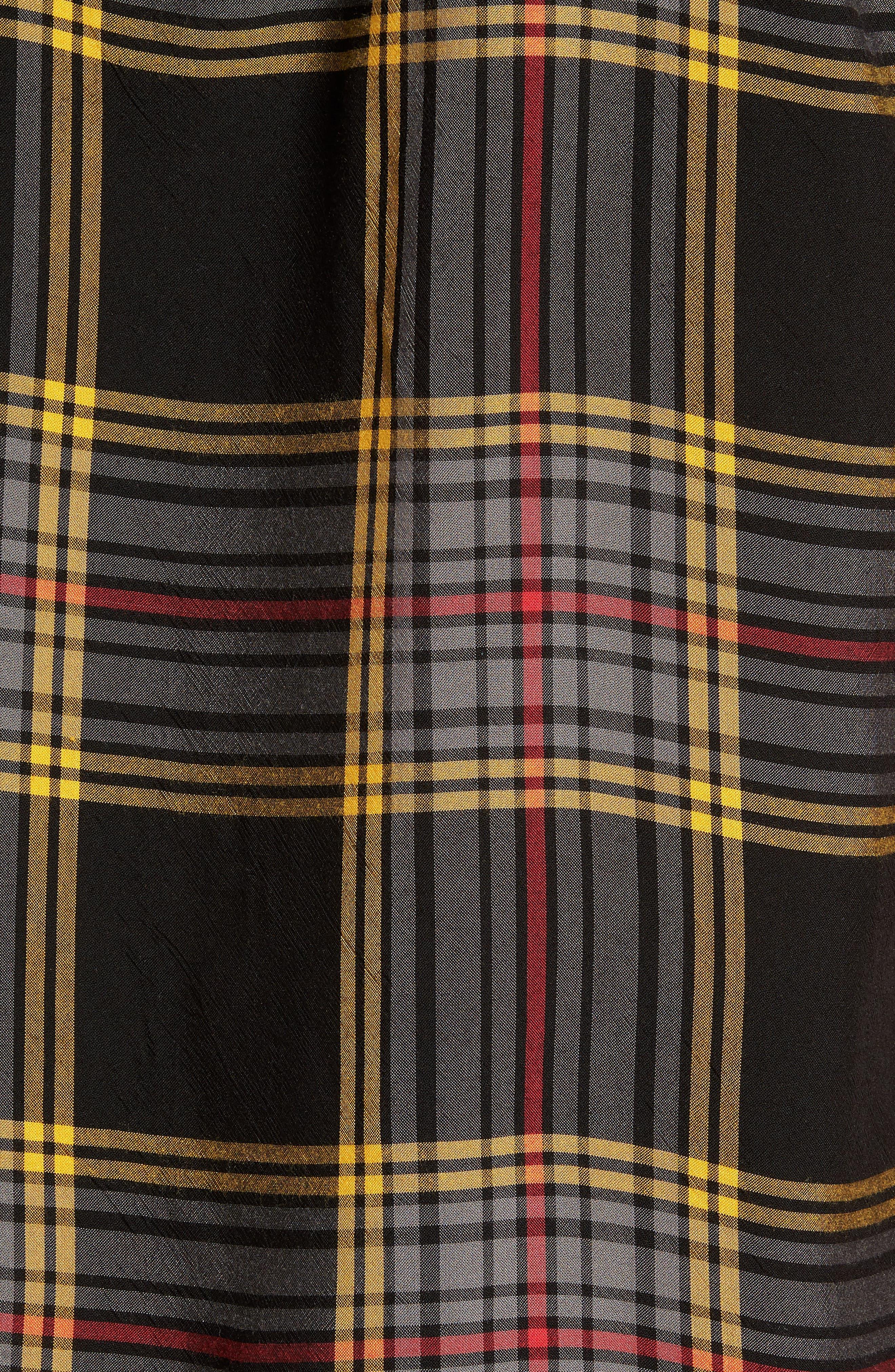 Yarn Dyed Plaid Shirt,                             Alternate thumbnail 5, color,                             Black Yellow Ethan Plaid