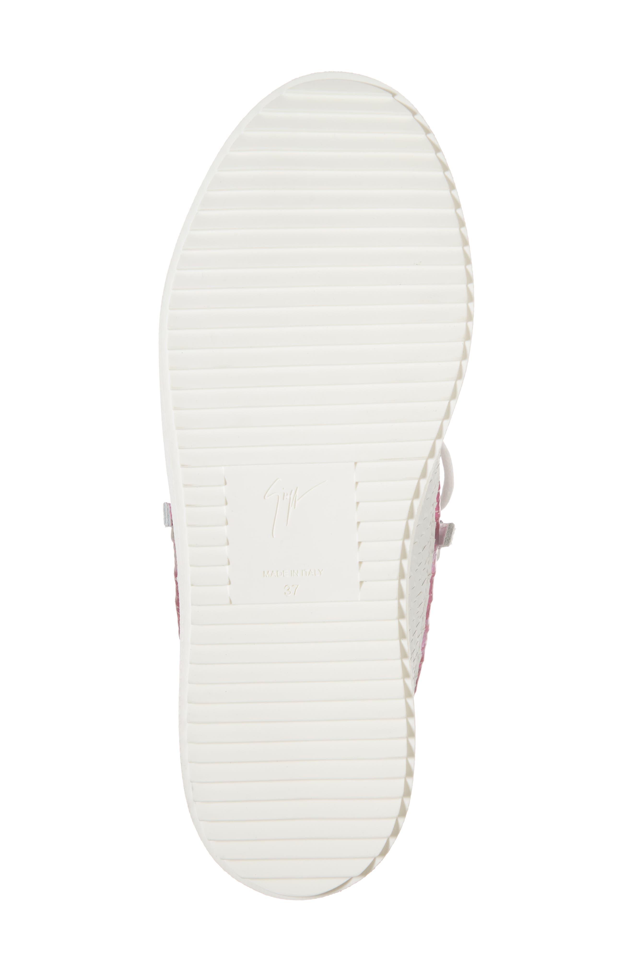 Low Top Sneaker,                             Alternate thumbnail 6, color,                             White/ Fuchsia