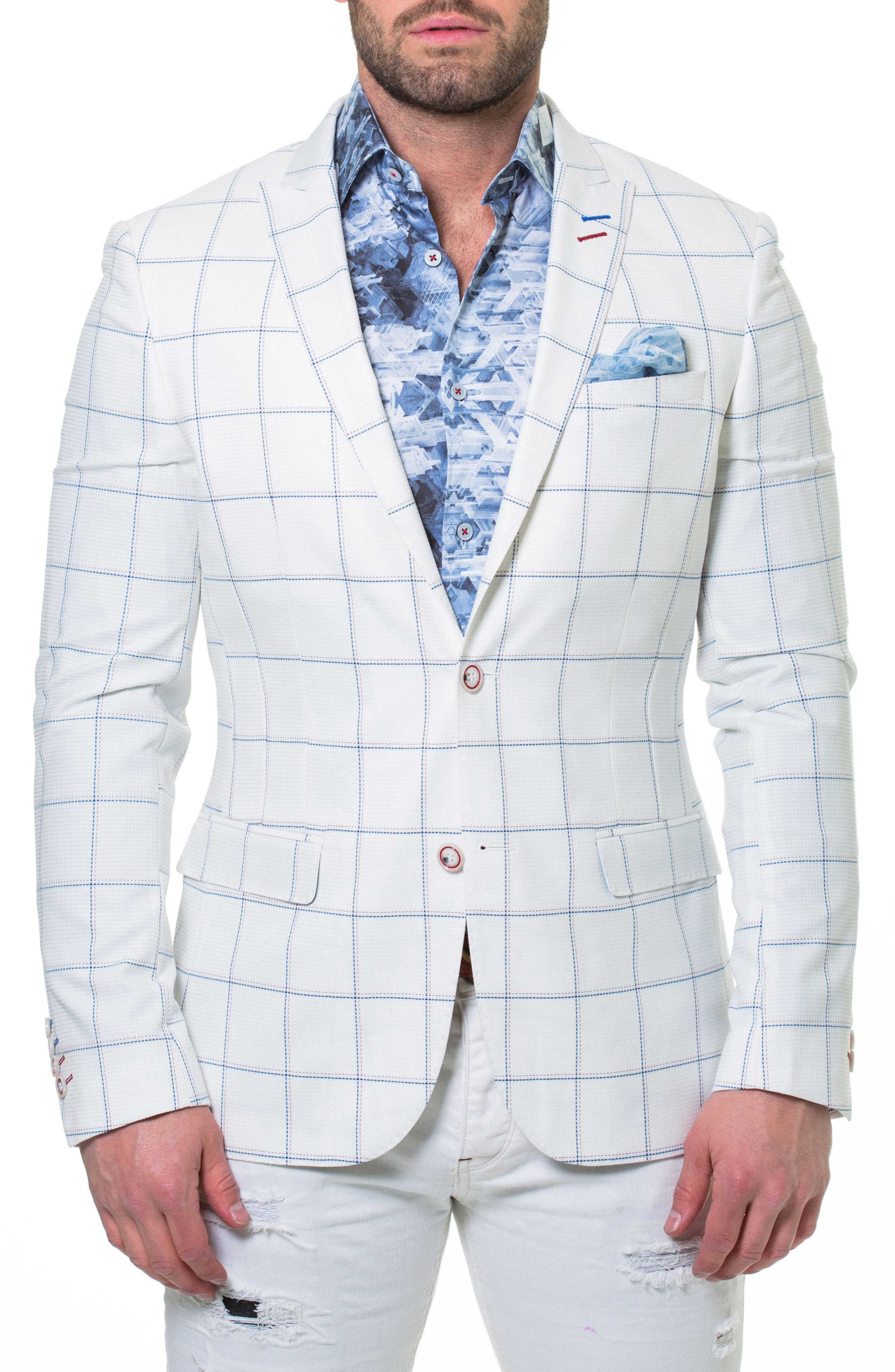 Descartes Independence Sport Coat,                             Main thumbnail 1, color,                             White