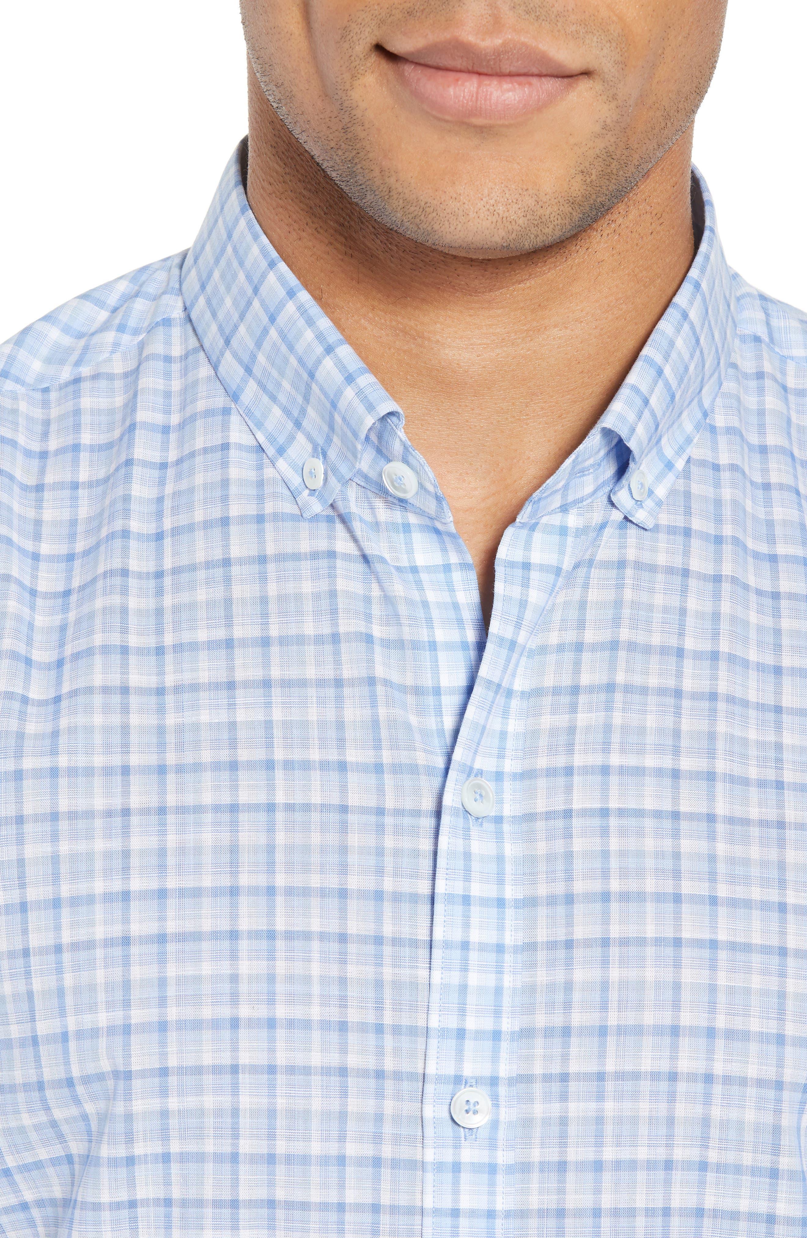 Jian Regular Fit Sport Shirt,                             Alternate thumbnail 4, color,                             Sky