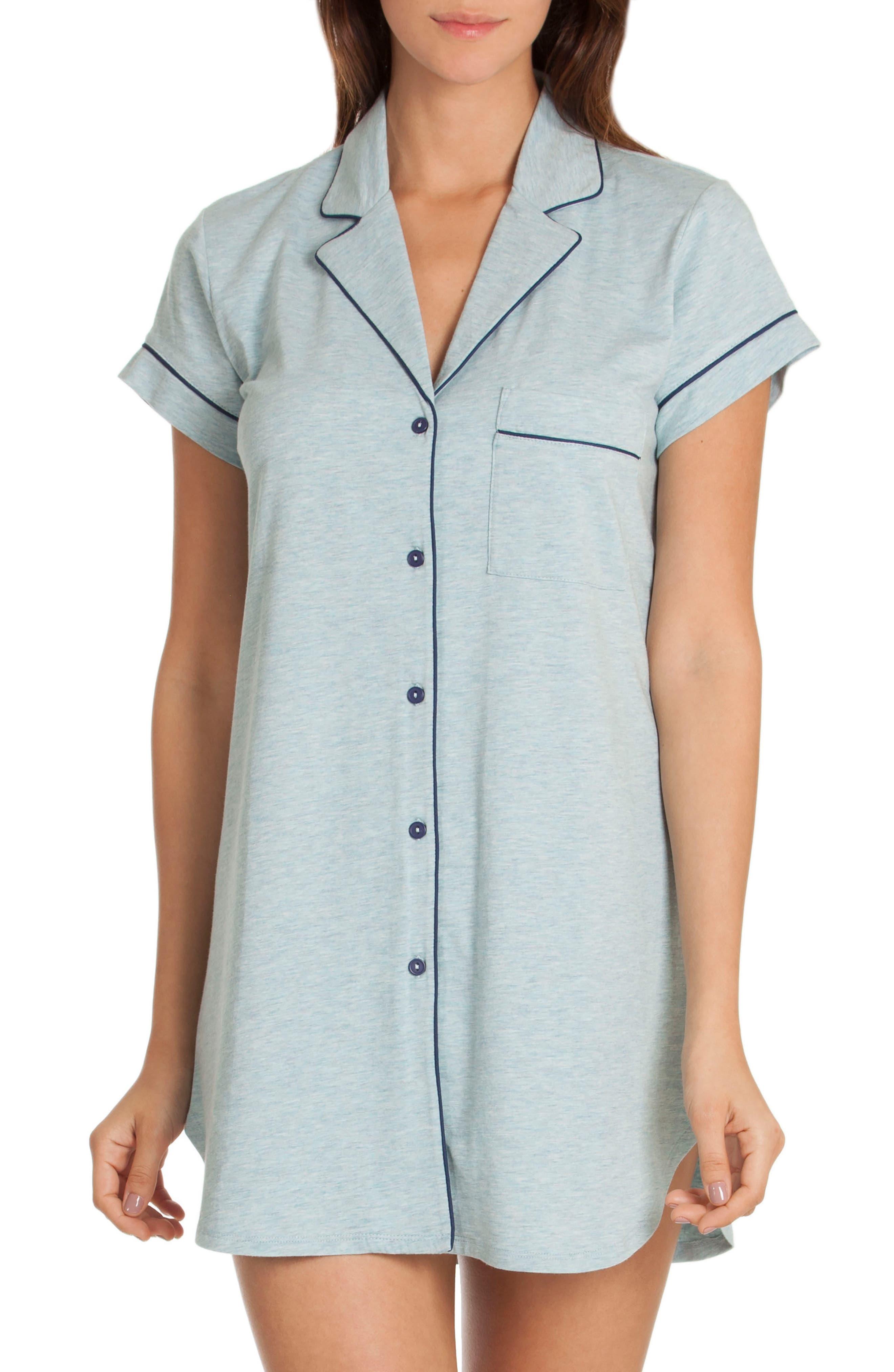 Sleep Shirt,                         Main,                         color, Skyfall/ Deep Pacific