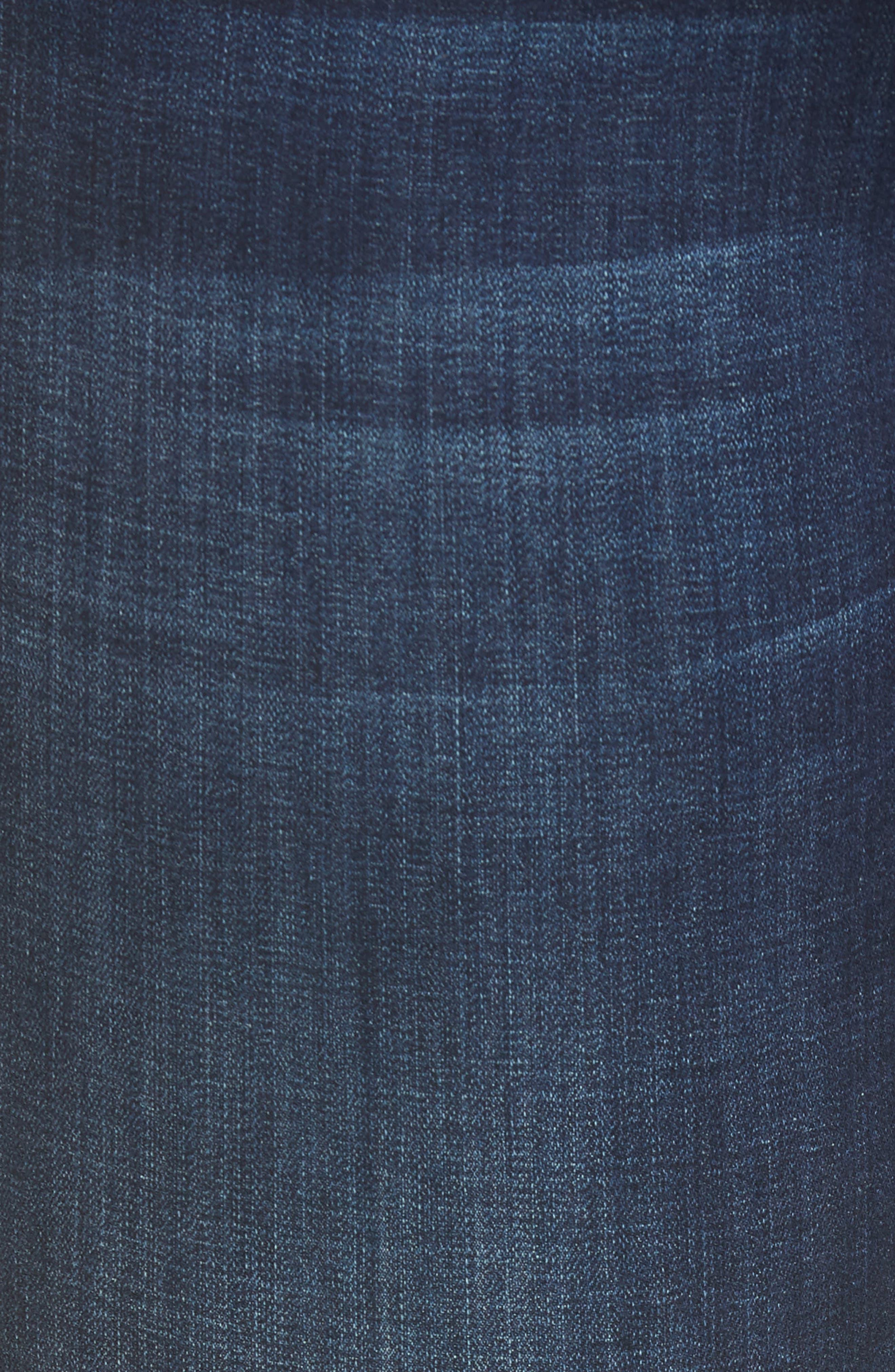 Maddie Cuff Skinny Jeans,                             Alternate thumbnail 6, color,                             Dark Indigo