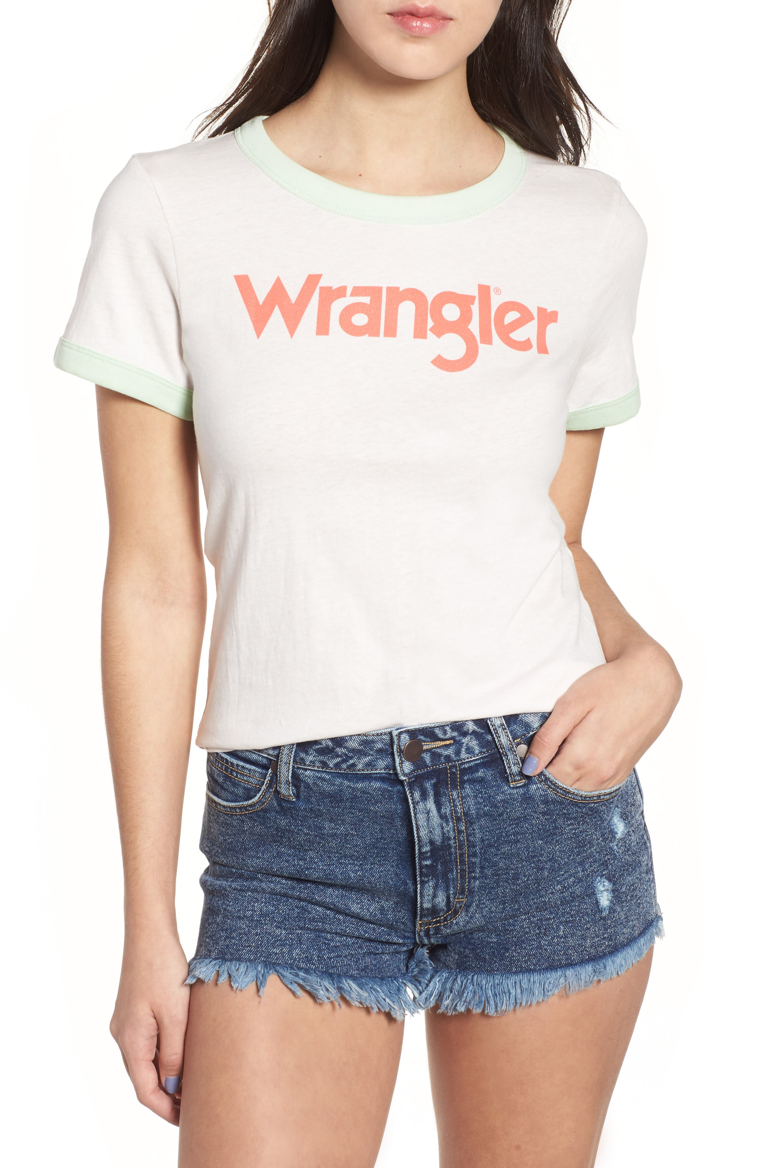 Kabel Graphic Ringer Tee,                         Main,                         color, Rosewater