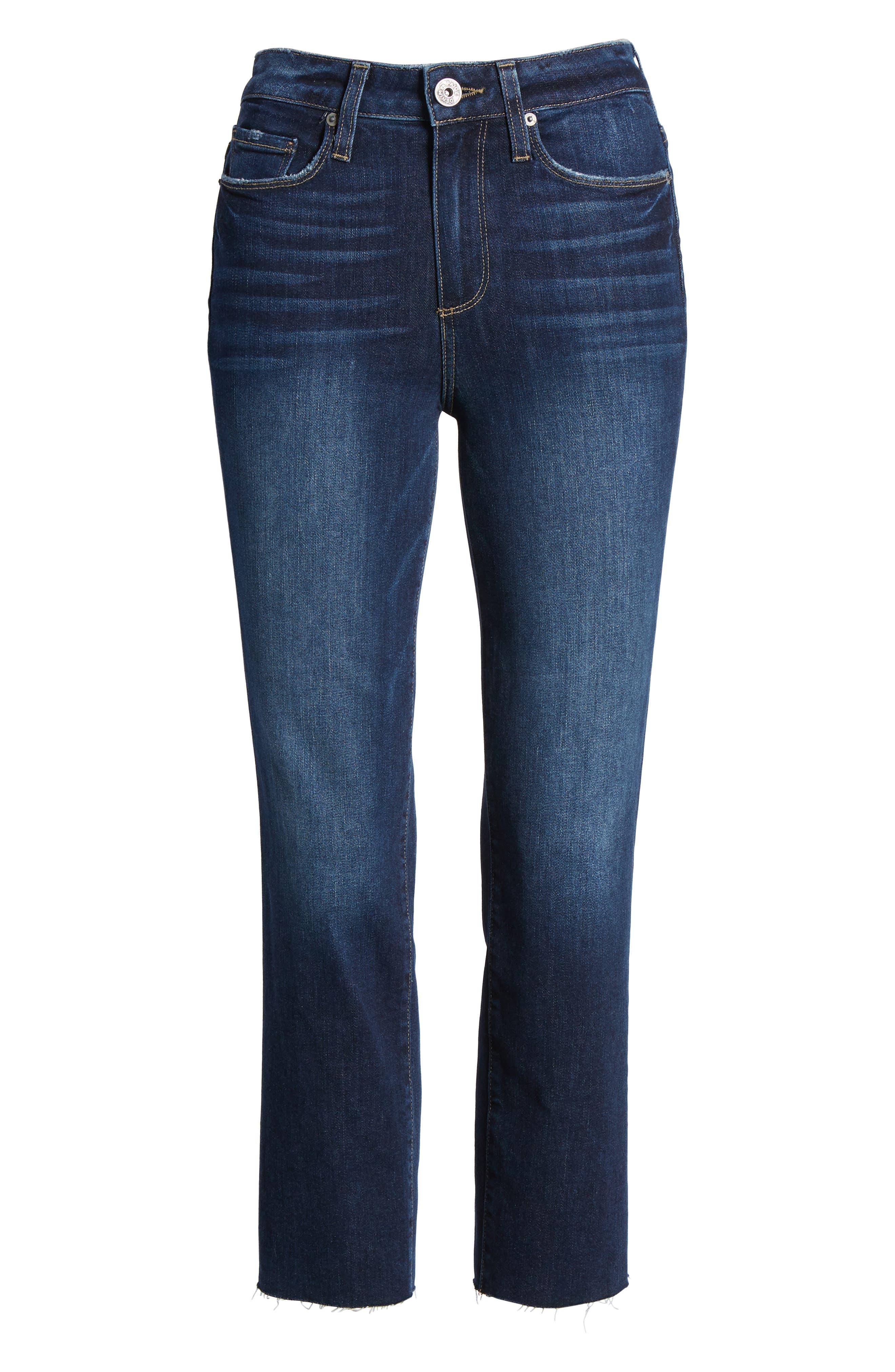Hoxton High Waist Crop Straight Leg Jeans,                             Alternate thumbnail 6, color,                             Mazzetti