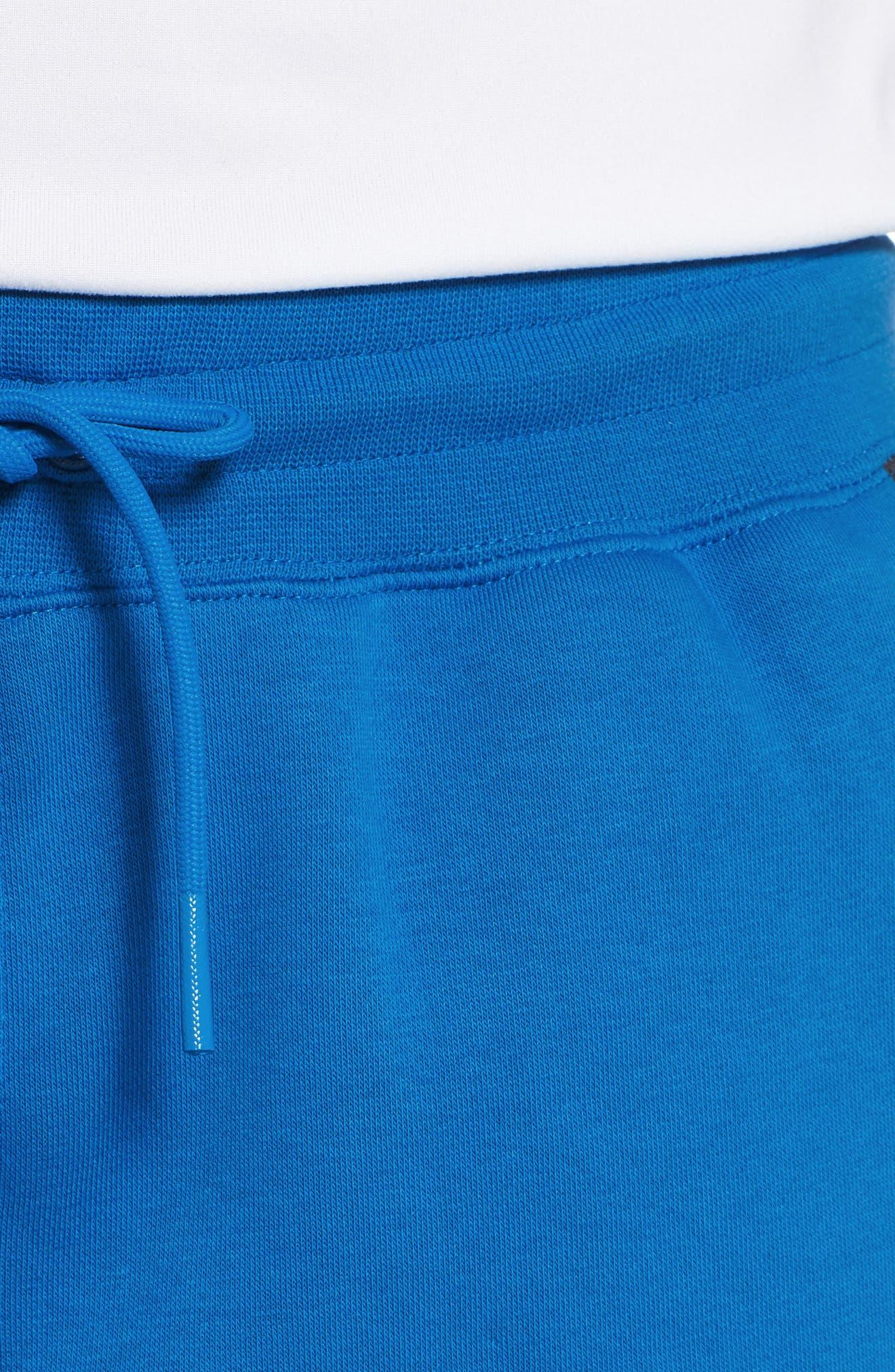 Sportswear Air Fleece Shorts,                             Alternate thumbnail 4, color,                             Blue Nebula/ Anthracite/ White